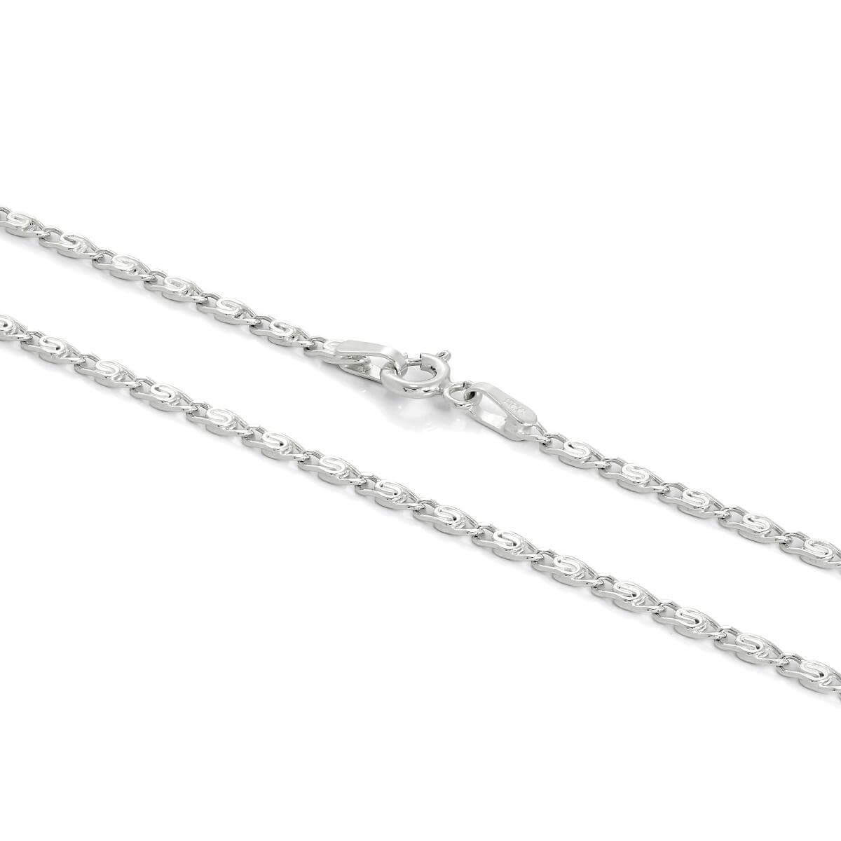 Sterling Silver 2mm S Curb Chain 16 - 24 Inches
