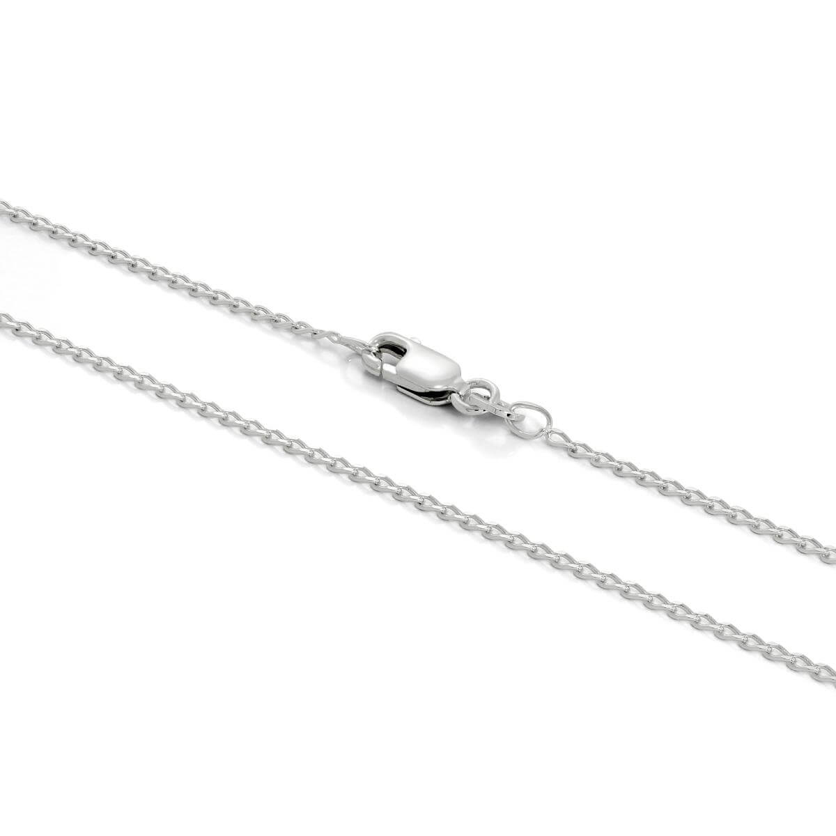 Sterling Silver 1mm Long Curb Chain 16 - 24 Inches