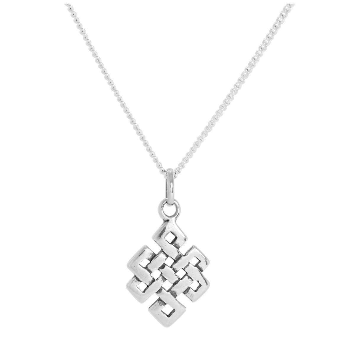Sterling Silver Celtic Knot Pendant Necklace 16 - 24 Inches