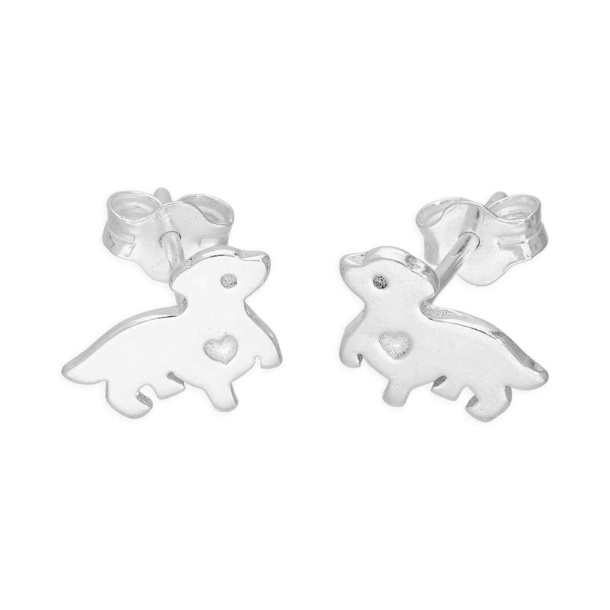 Sterling Silver Puppy Love Stud Earrings
