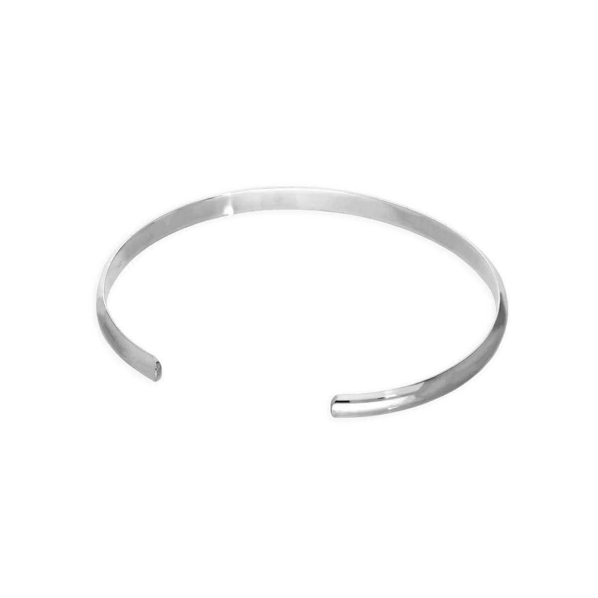 Sterling Silver Plain 71mm Mens Bangle