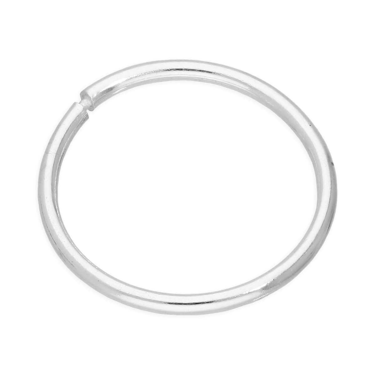 Single Sterling Silver Lightweight Sleeper 12mm Hoop Earring