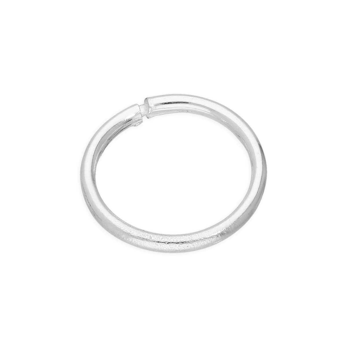 Single Sterling Silver Lightweight Sleeper 8mm Hoop Earring