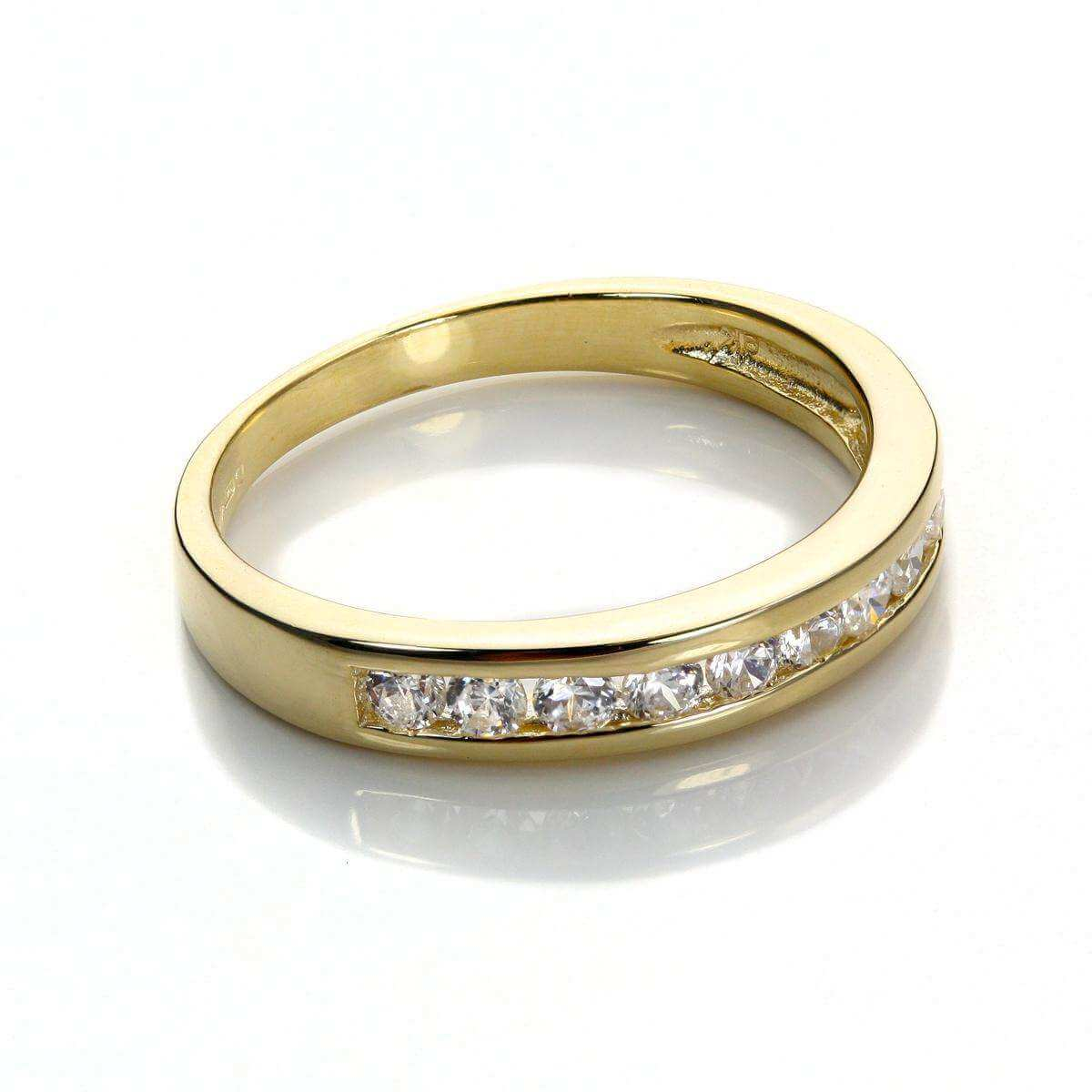 9ct Yellow Gold Clear CZ Eternity Ring