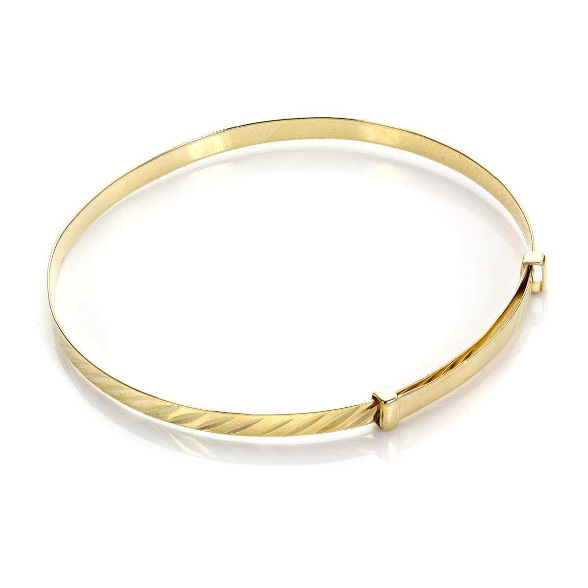 9ct Yellow Gold Diamond Cut Baby Bangle