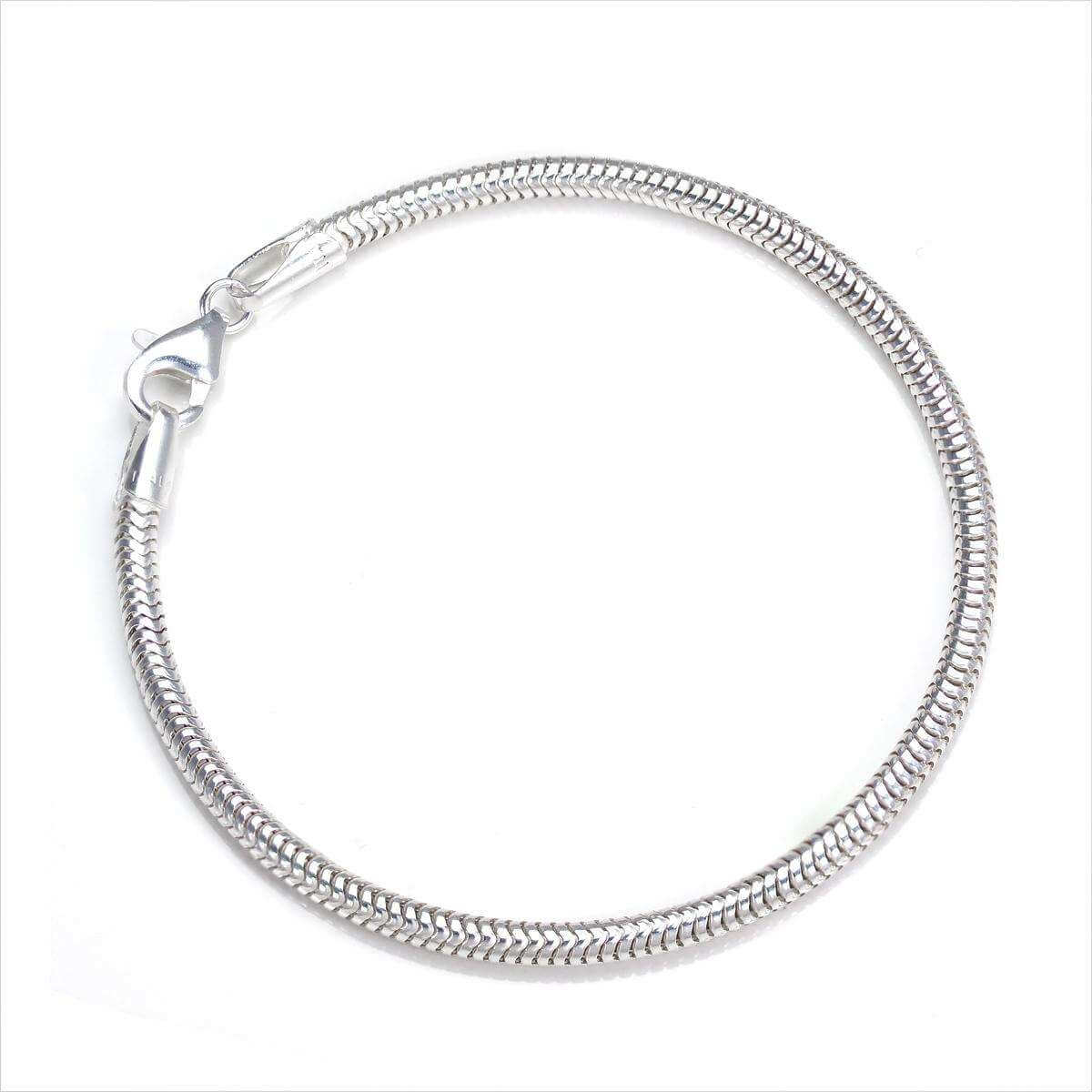 Sterling Silver 3mm Snake Bracelet - 7.5 Inches