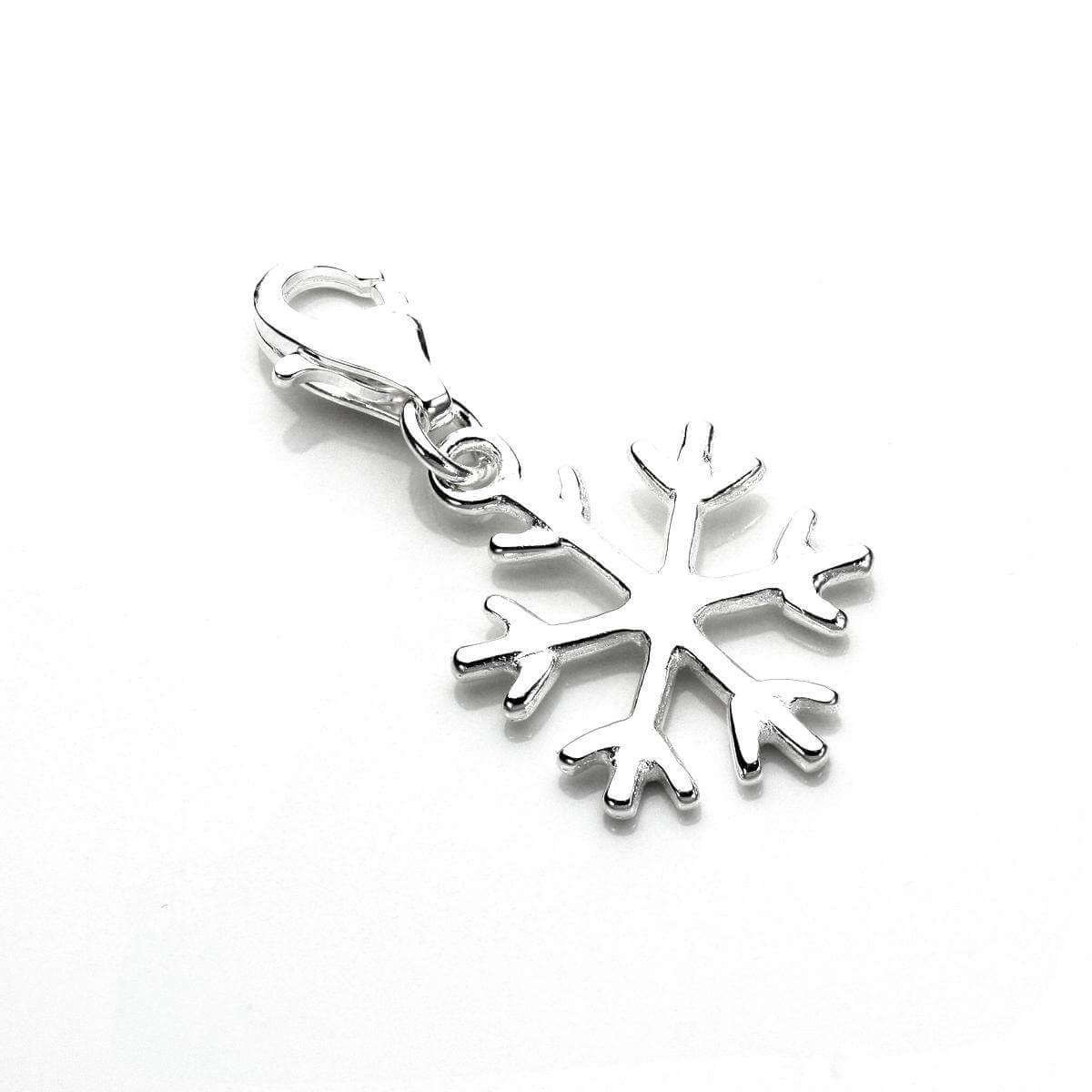 TheCharmWorks Sterling Silver Winter Snowflake Clip on Charm