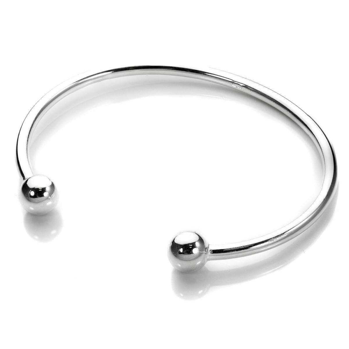 Sterling Silver Adult Torque Bangle