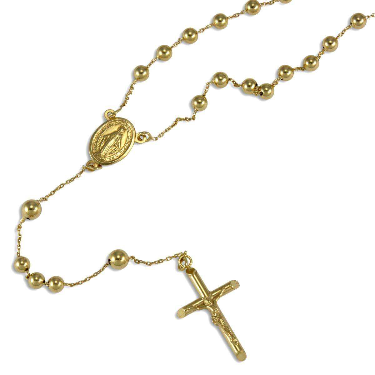 9ct Yellow Gold Rosary Necklace