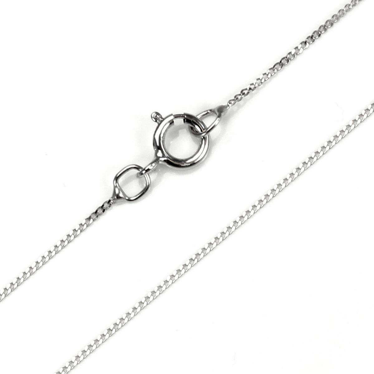 9ct White Gold Diamond Cut Chain Necklace