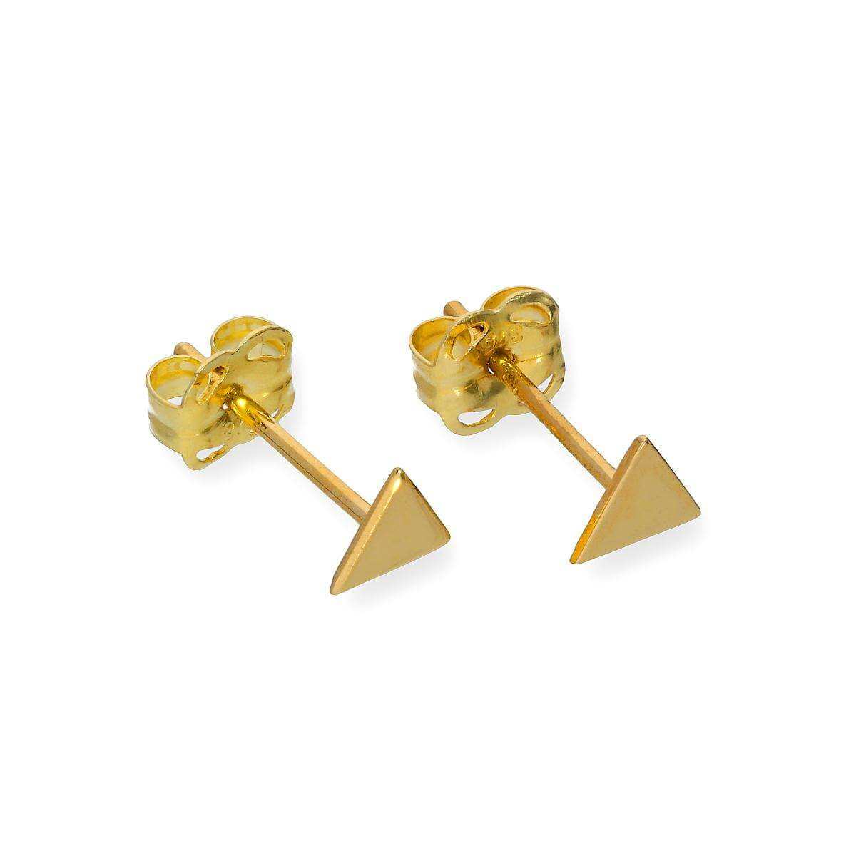 9ct Gold Small Triangle Stud Earrings