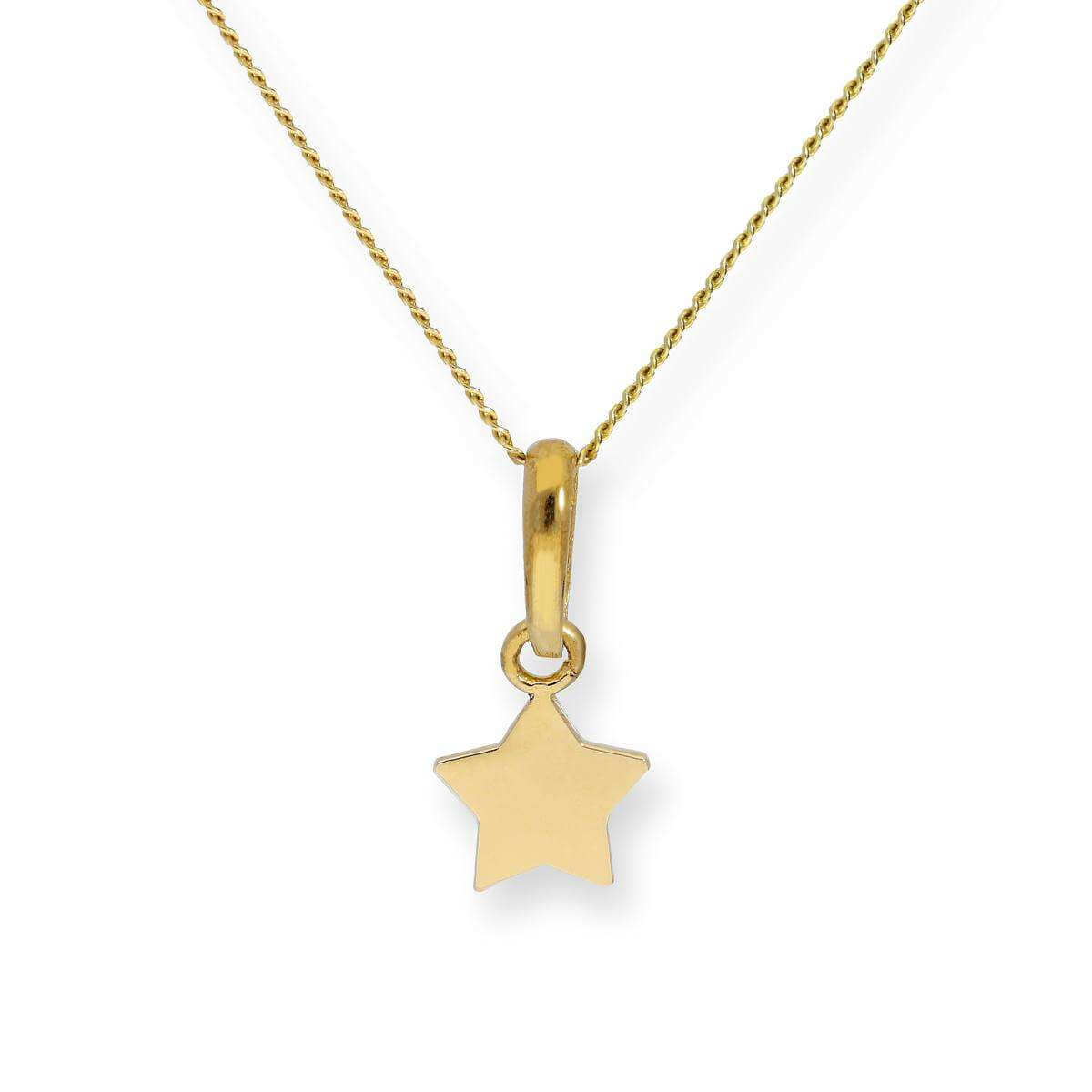 9ct Gold Star Pendant Necklace