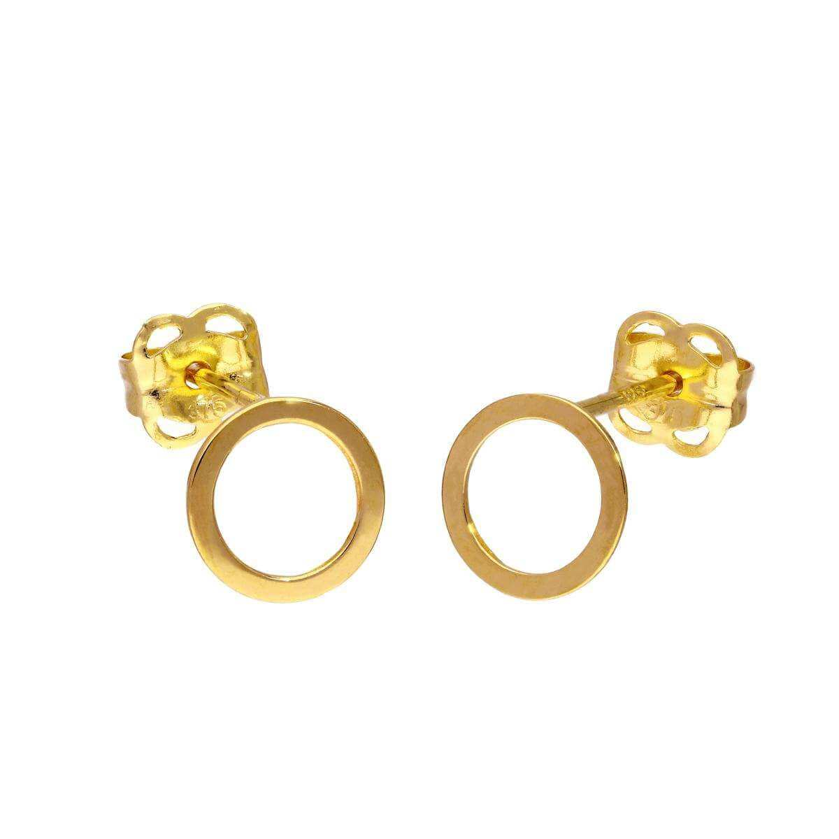 9ct Gold 6mm Circle Stud Earrings