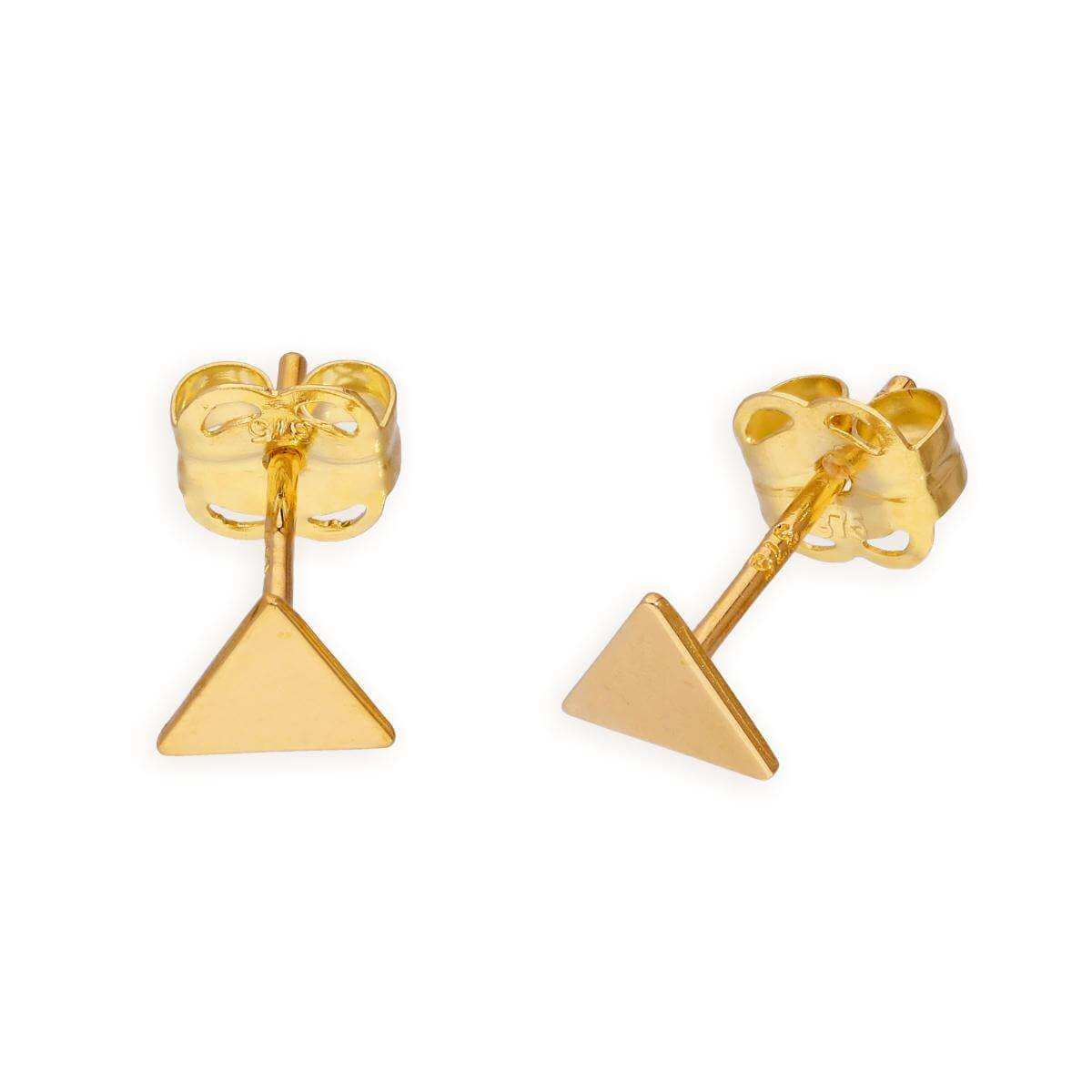 9ct Gold Triangle Stud Earrings