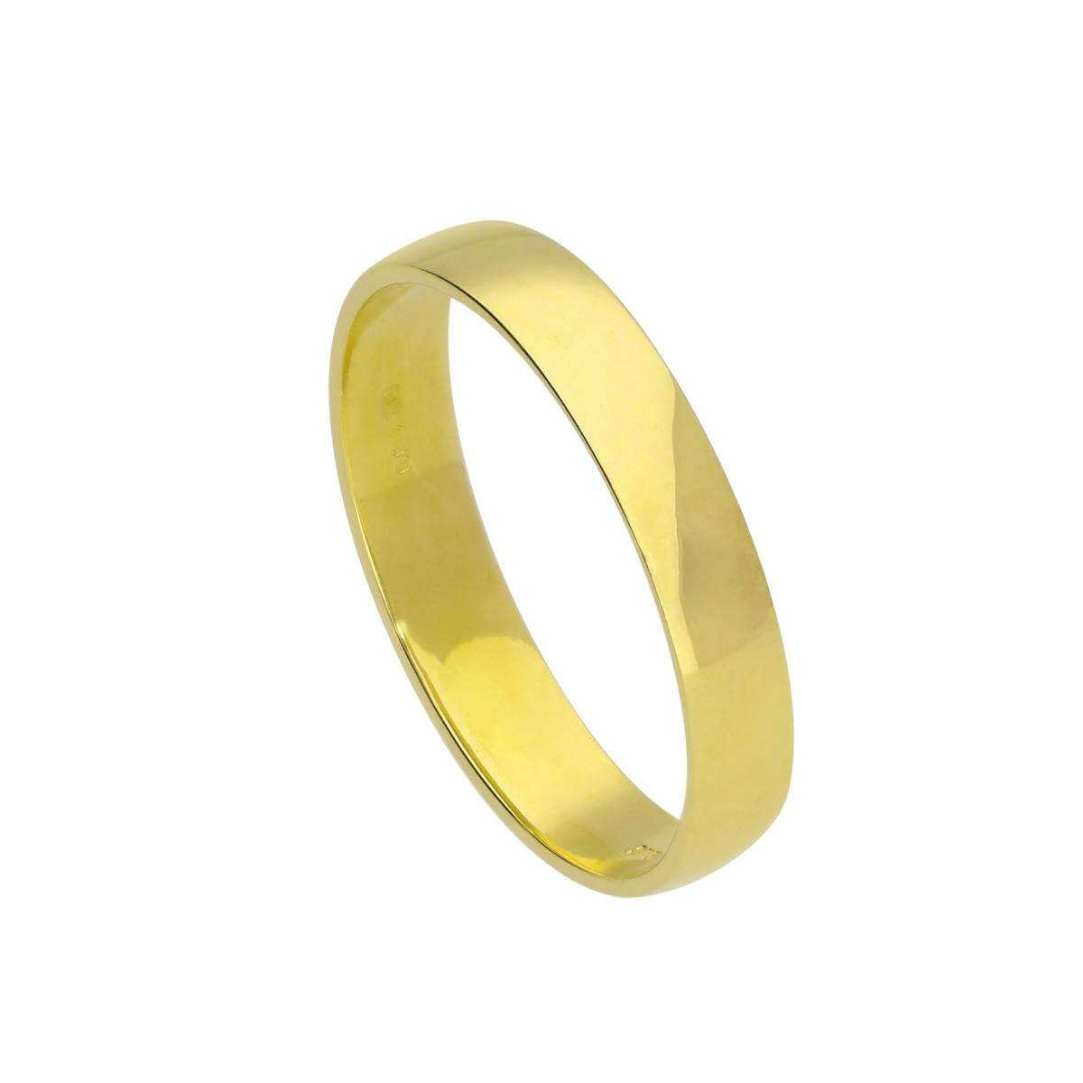 9ct Gold Engravable 4mm Wedding Band Ring Size I - U