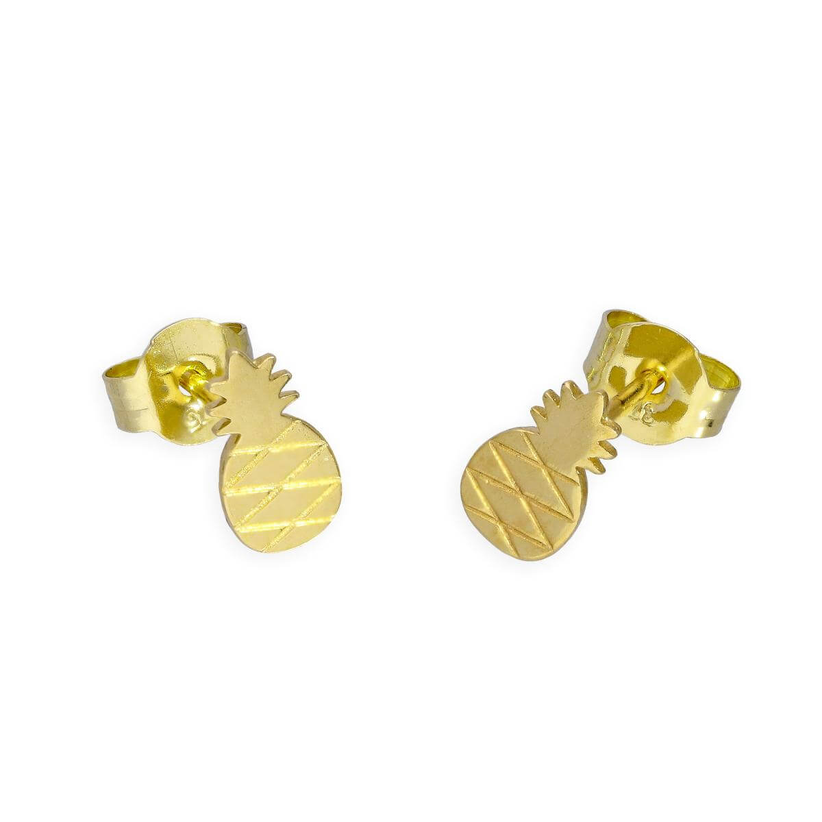 9ct Gold Little Pineapple Stud Earrings