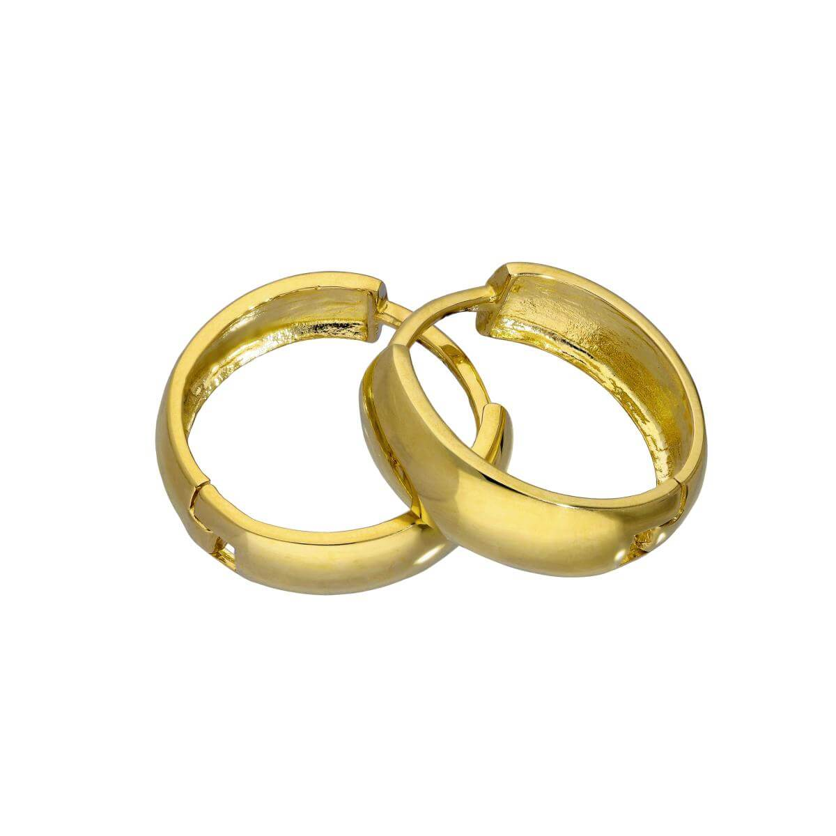 9ct Gold 14mm Hinged Huggie Hoops