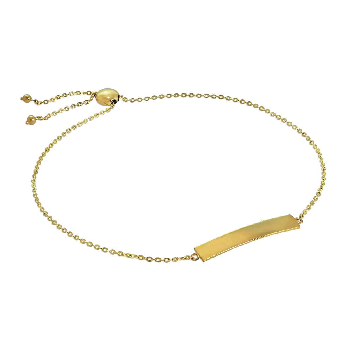 9ct Gold Engravable Adjustable ID Bracelet