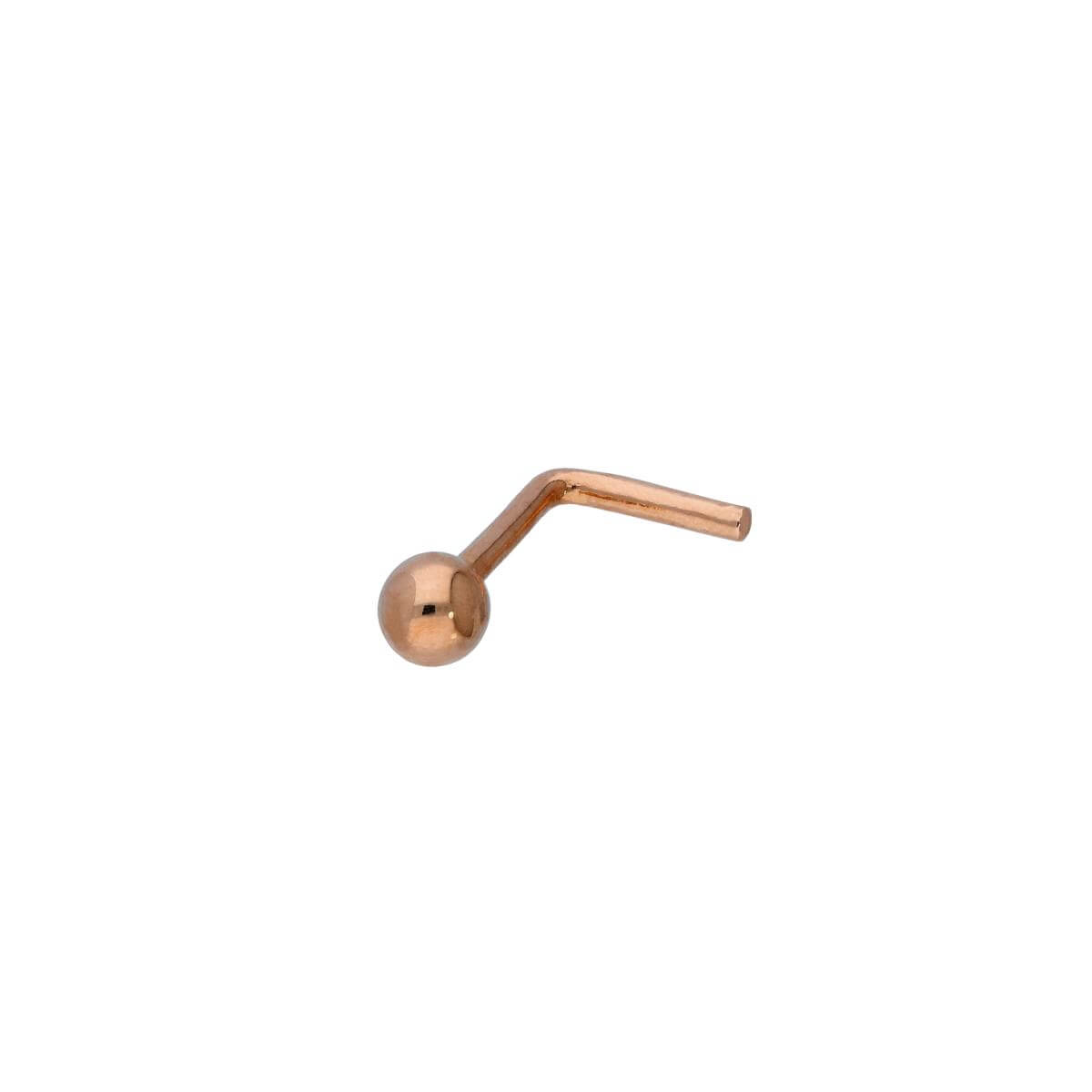 9ct Rose Gold 20Ga Nose Stud w 3mm Ball