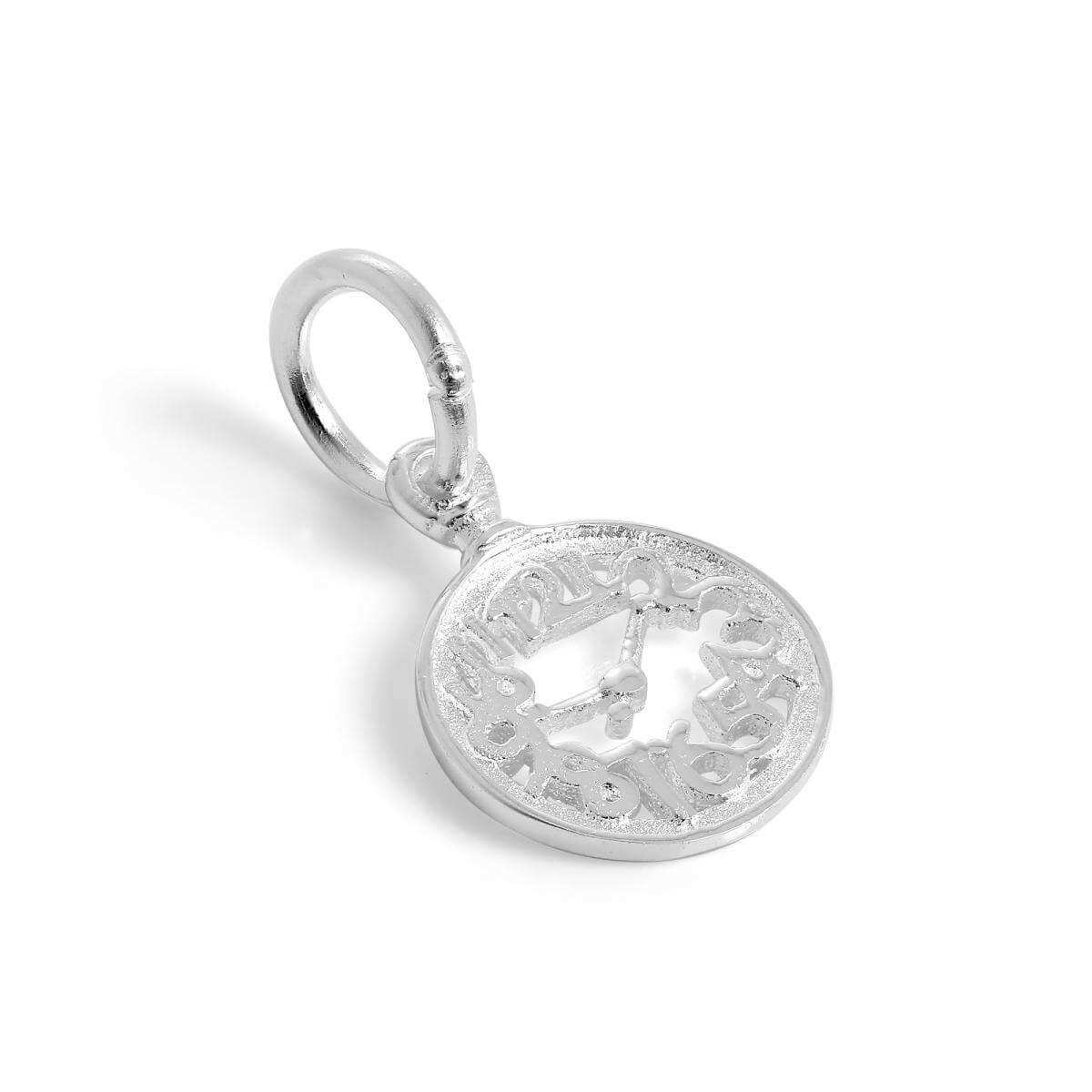 Small Sterling Silver Alice in Wonderland Clock Face Charm
