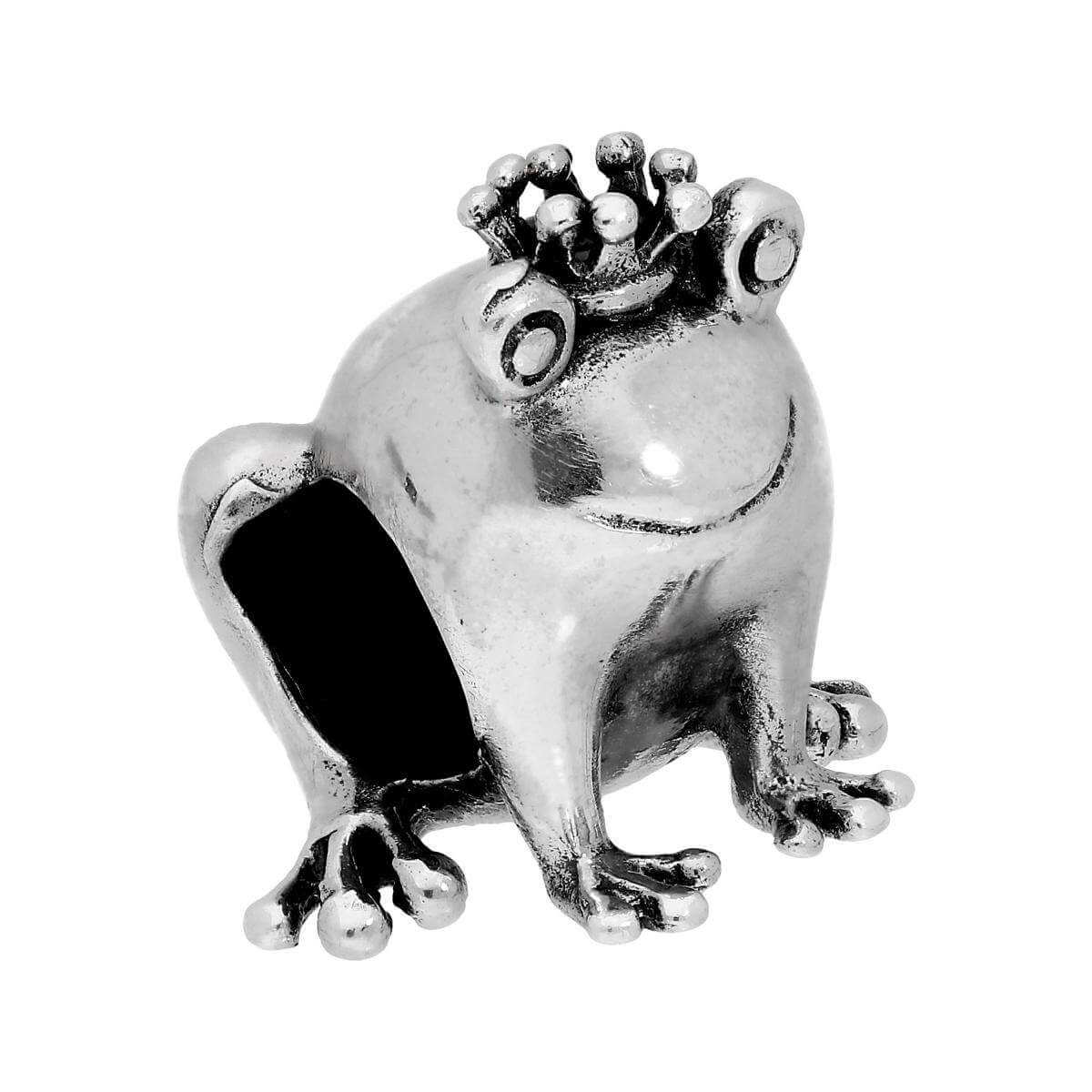 Sterling Silver Frog Prince Bead Charm