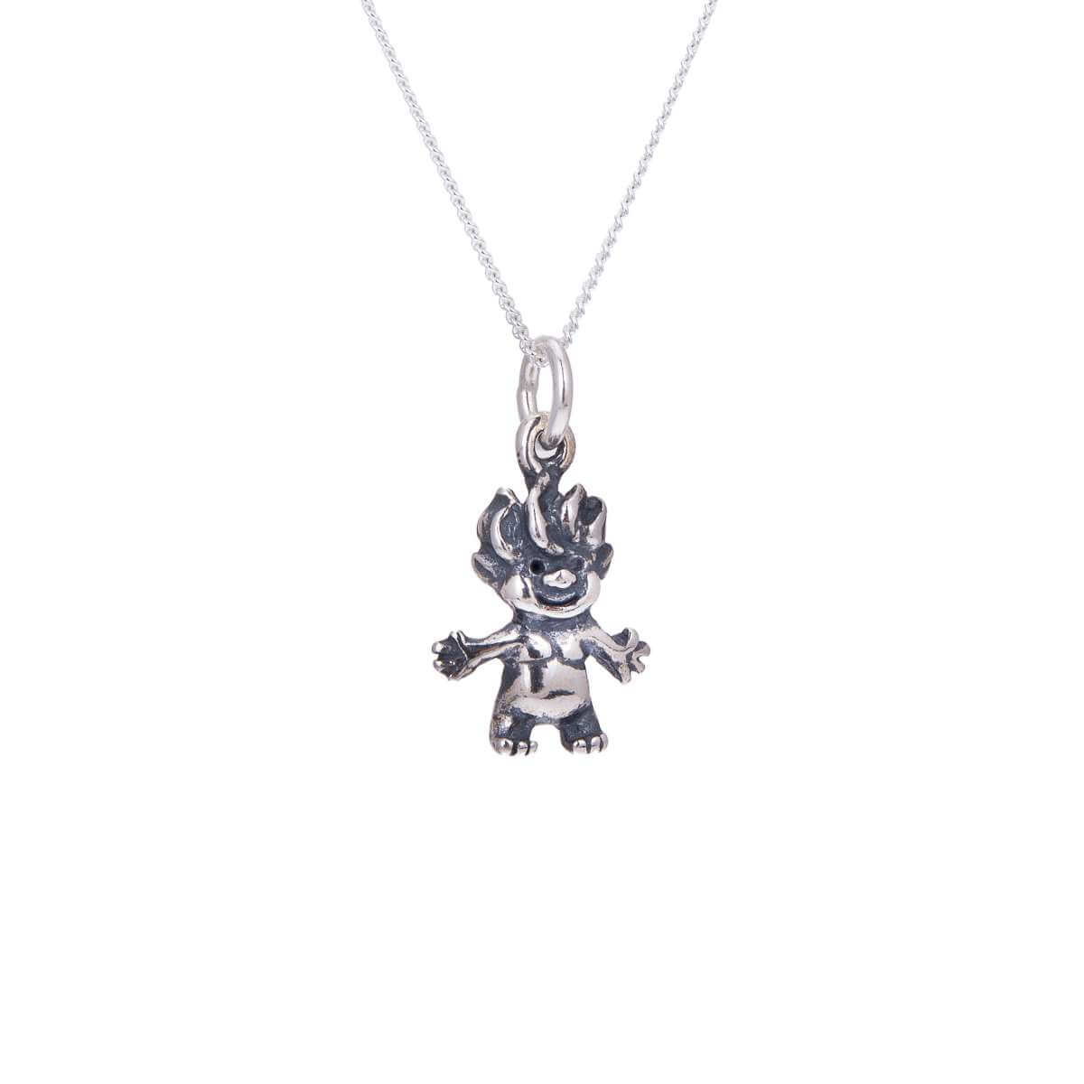 Sterling Silver Troll Necklace