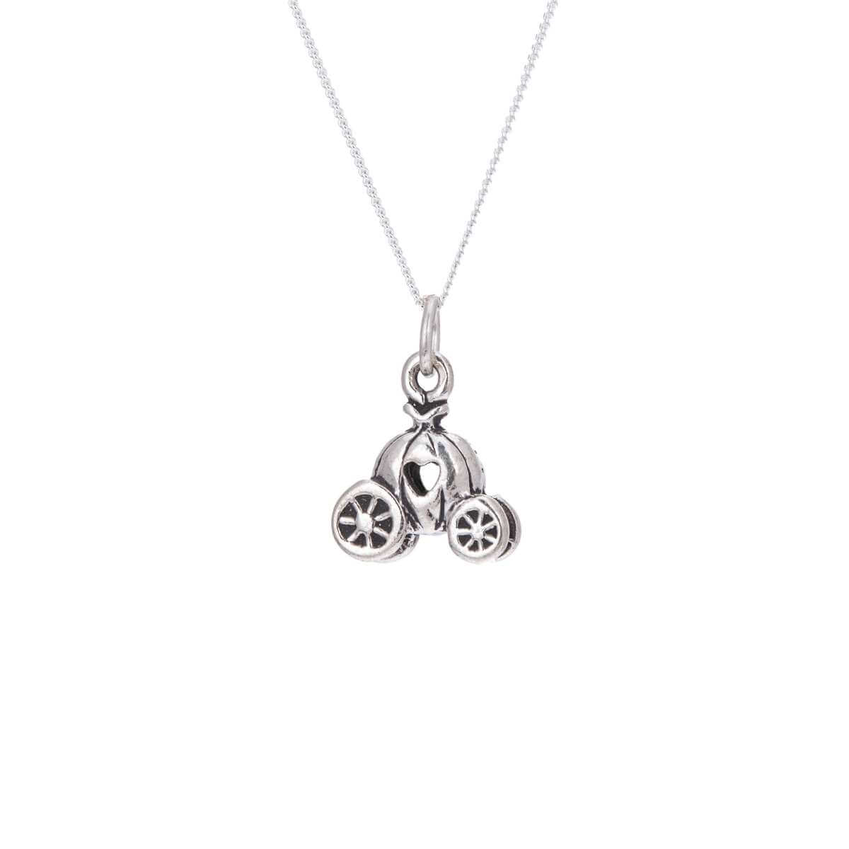 Sterling Silver Princess Pumpkin Carriage Necklace