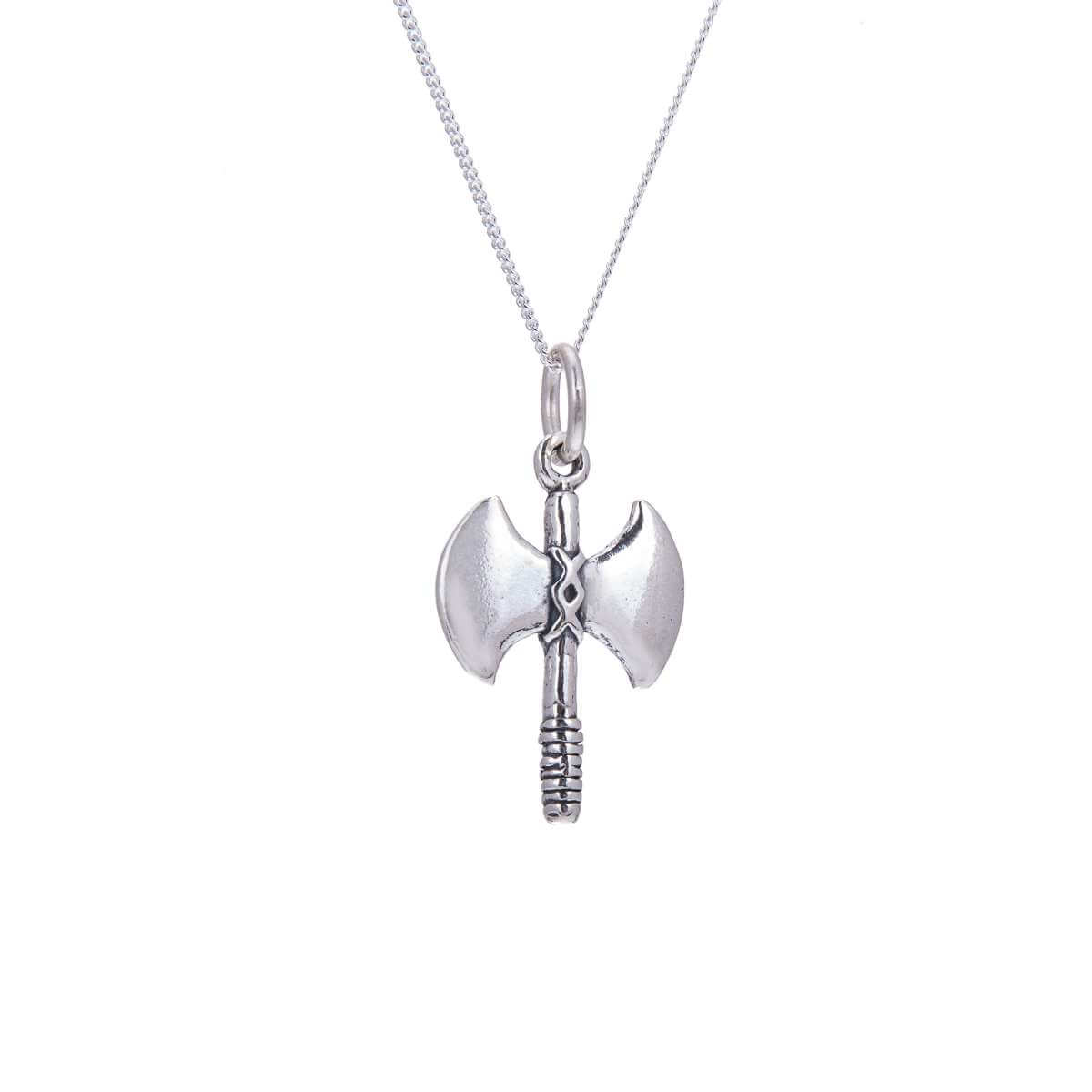 Sterling Silver Battle Axe Necklace