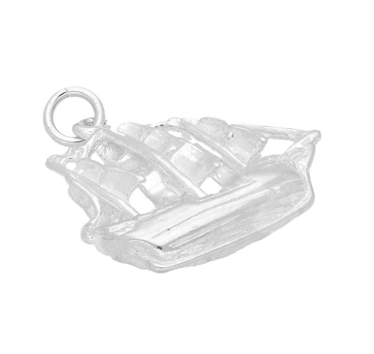 Sterling Silver Pirate Ship Charm
