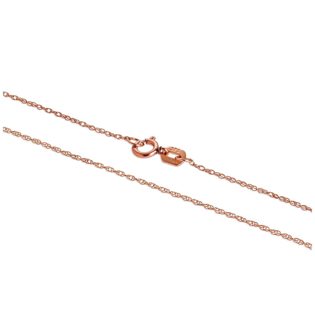 9ct Rose Gold Fine 18 Inch Prince of Wales Chain