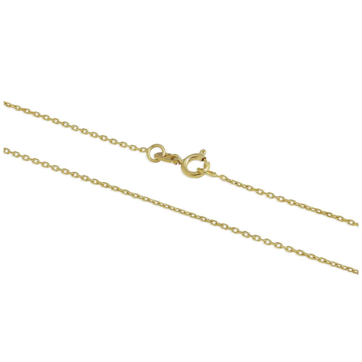 9ct Gold Faceted Trace Chain 16 - 22 Inches