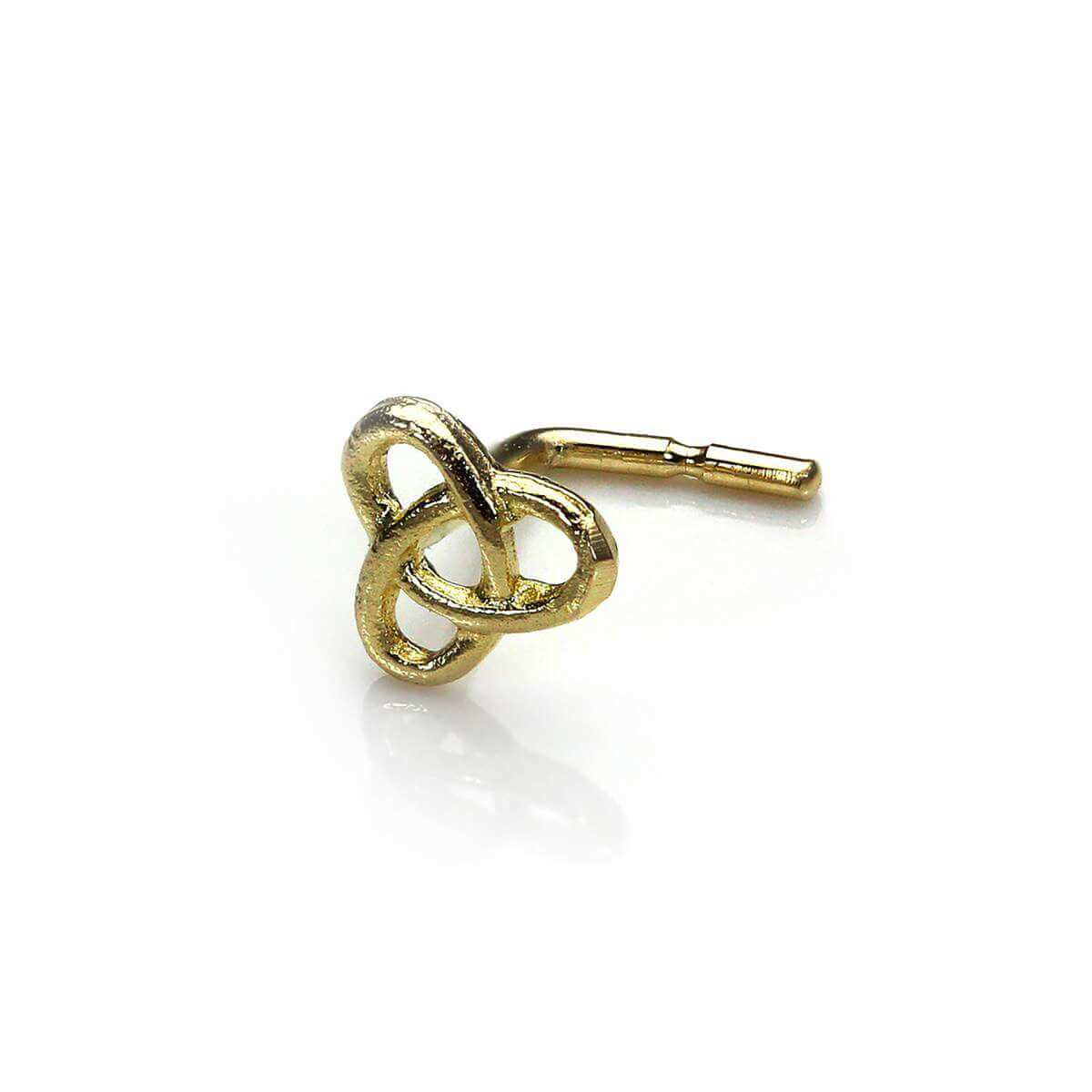 9ct Yellow Gold Celtic Knot L-Shaped Nose Stud