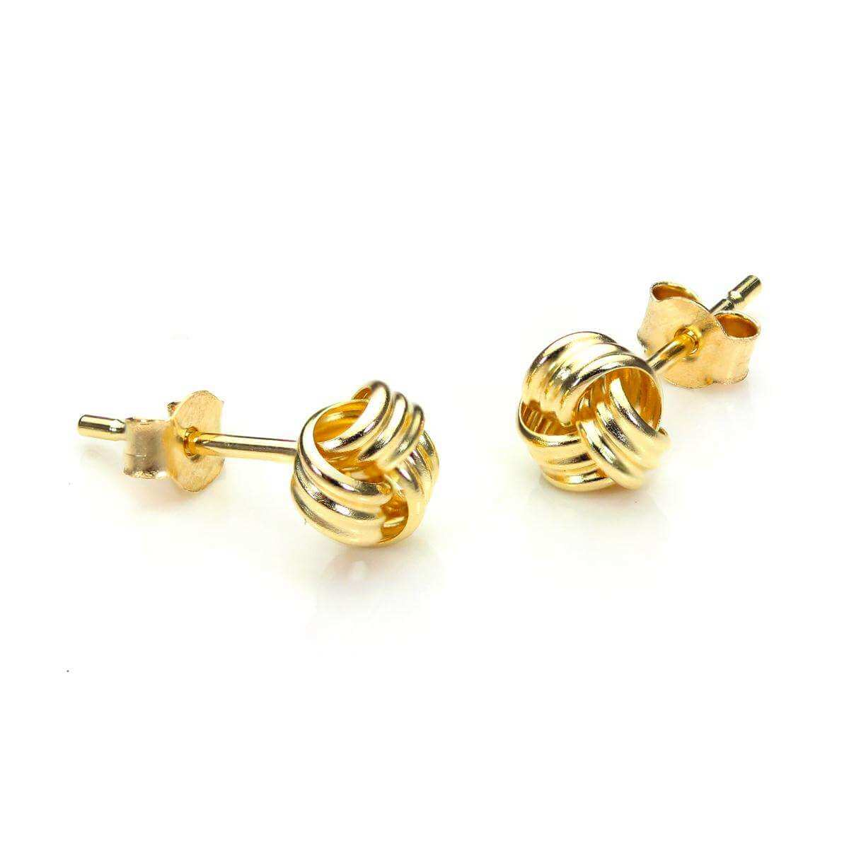 9ct Yellow Gold 5mm Knot Stud Earrings