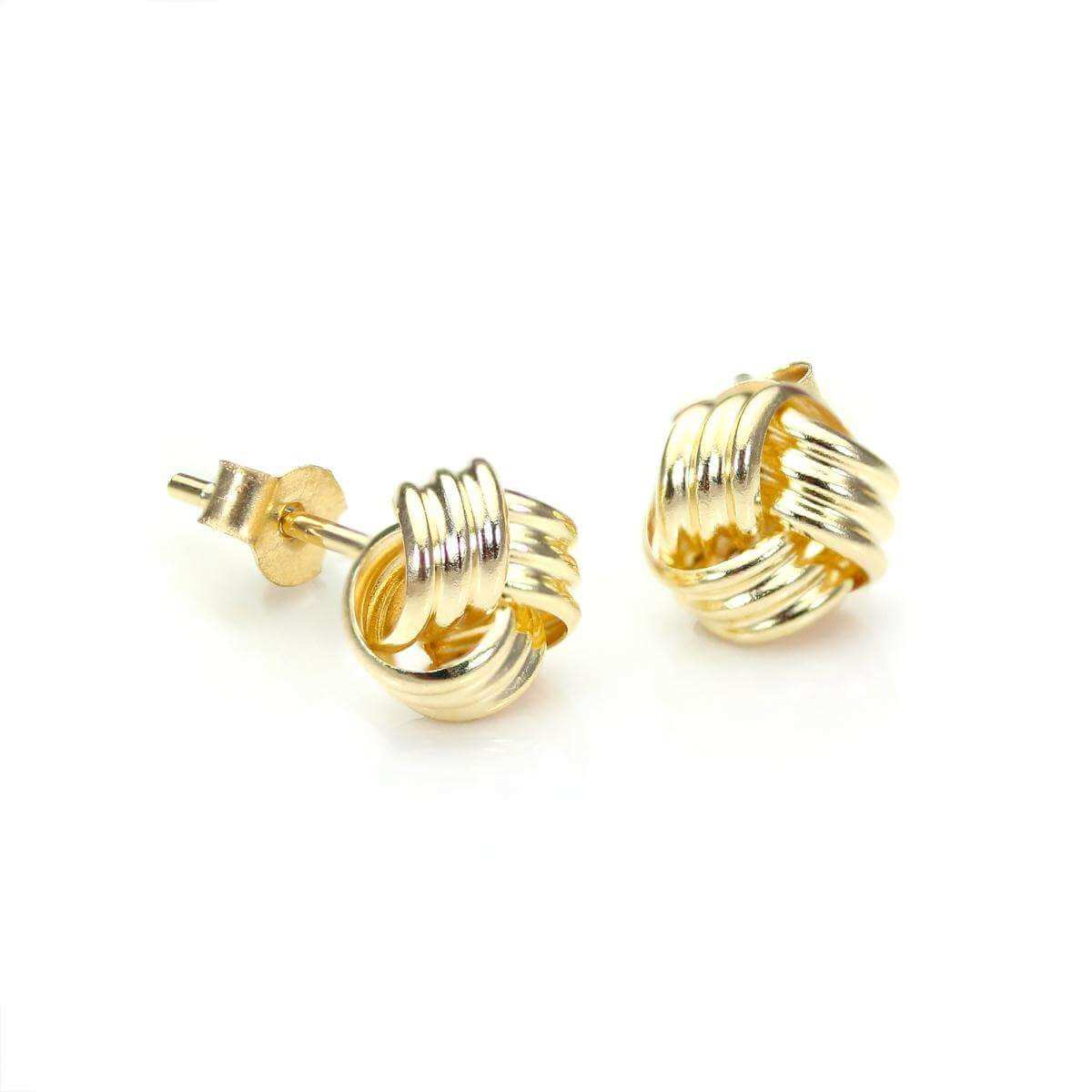 9ct Yellow Gold 6mm Knot Stud Earrings