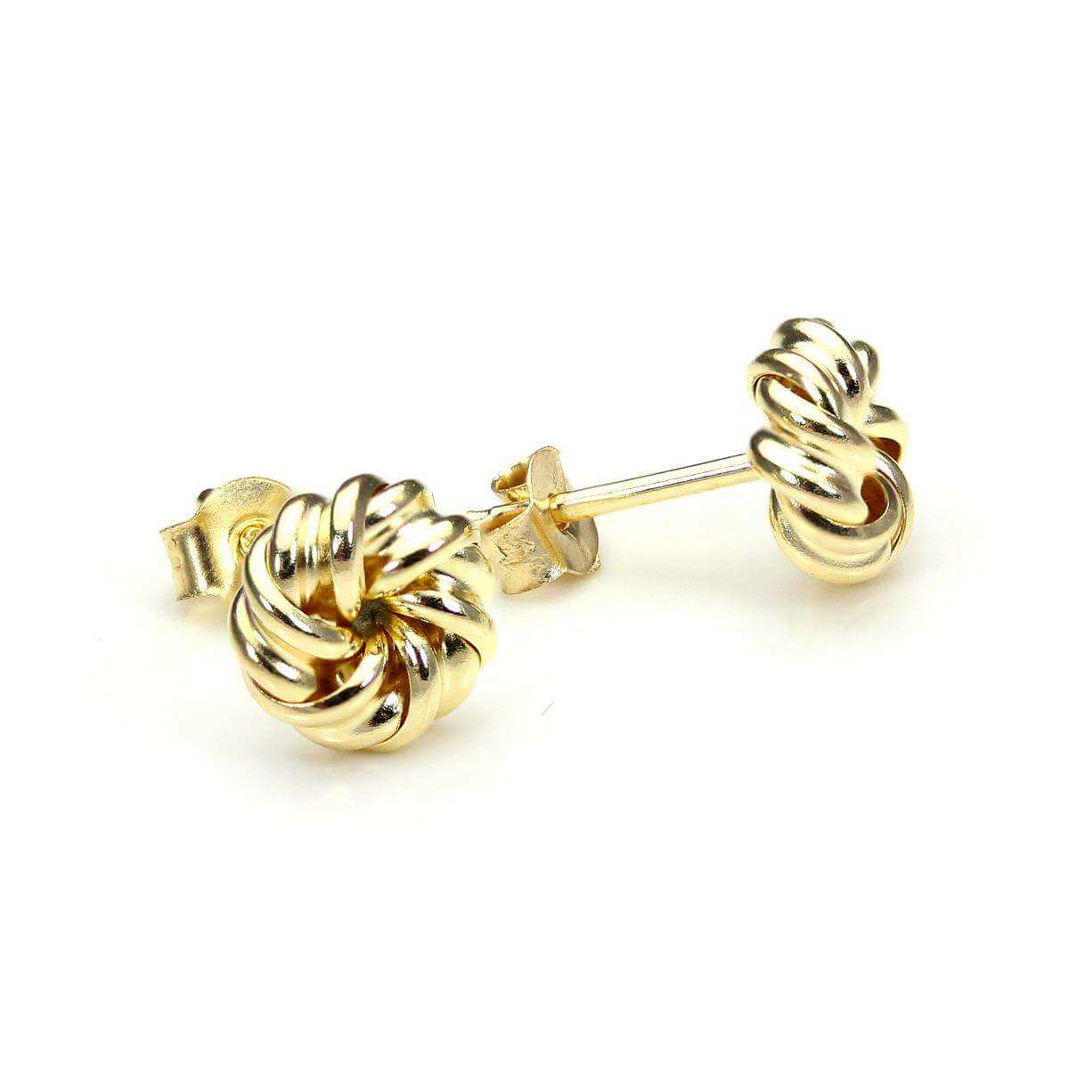 9ct Yellow Gold 6mm Tight Knot Stud Earrings