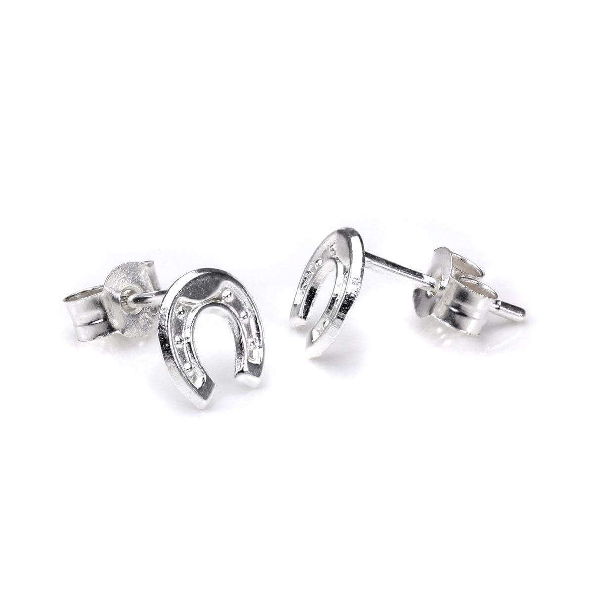 Sterling Silver Small Horseshoe Stud Earrings