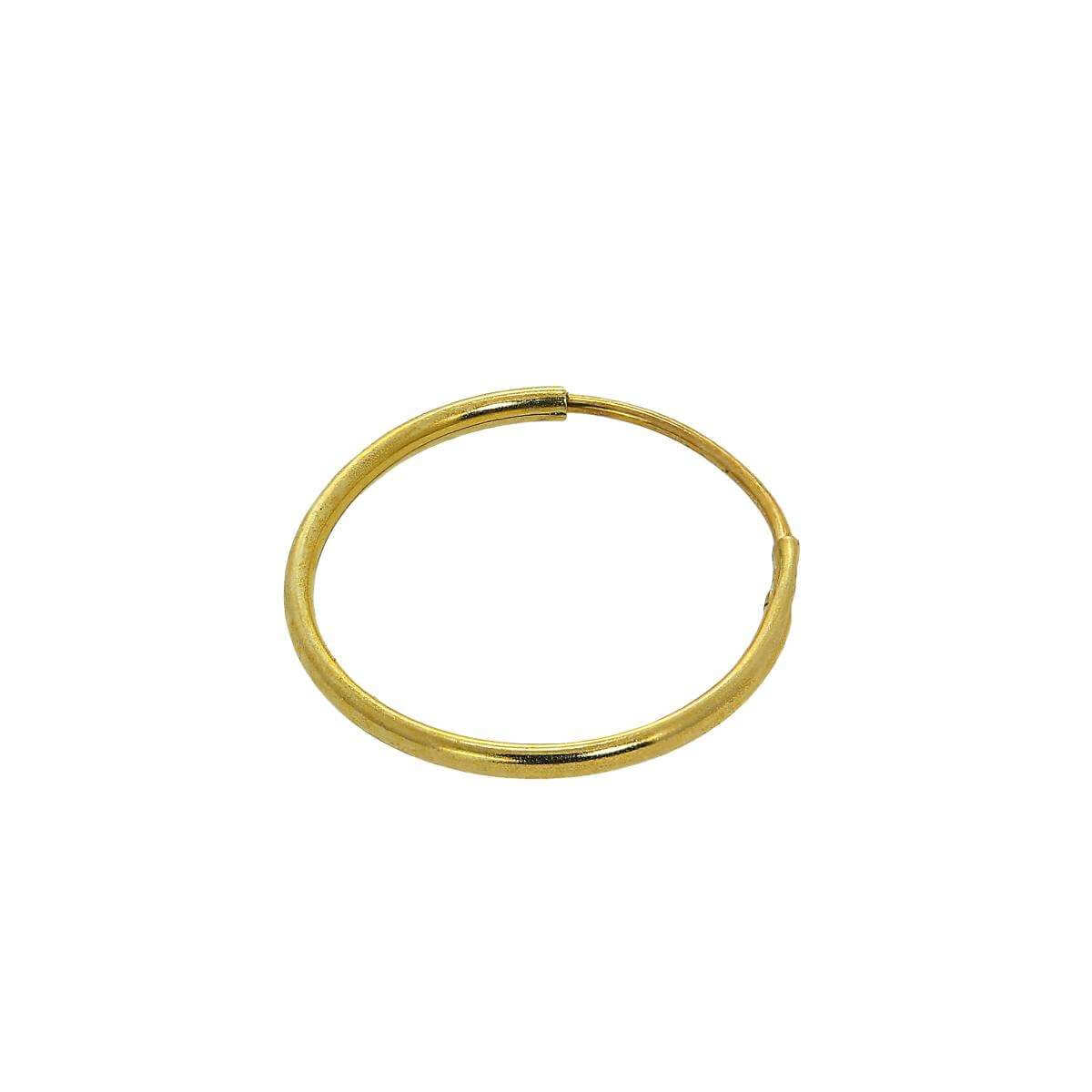 9ct Gold 10mm Lightweight Nose Ring