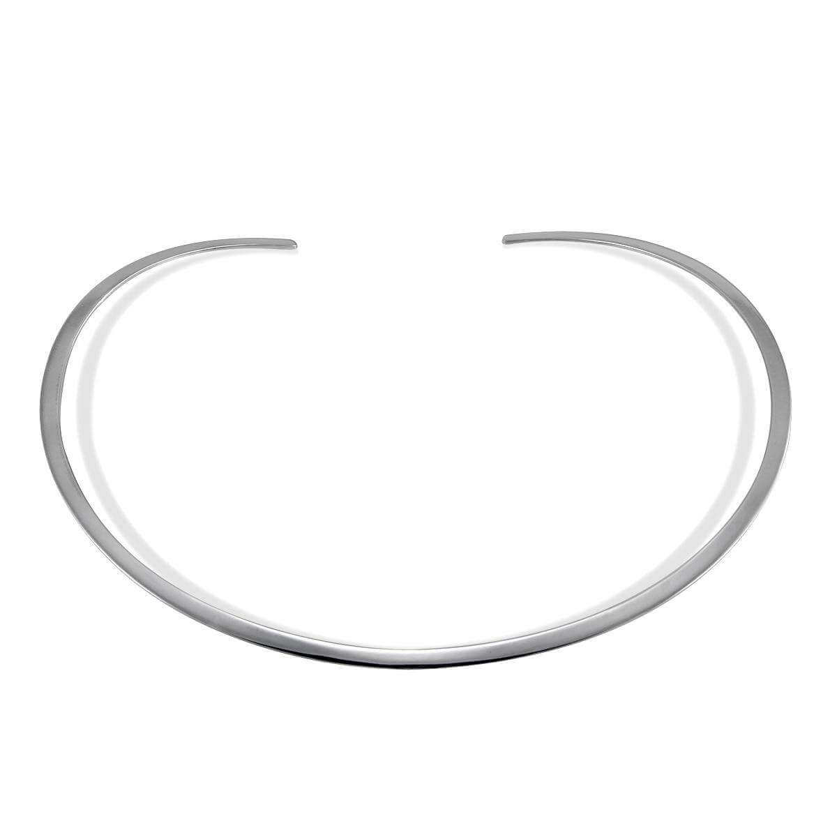 Sterling Silver Open Choker Necklace