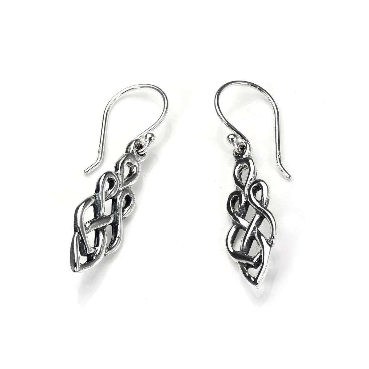 Sterling Silver Celtic Knot Drop Earrings