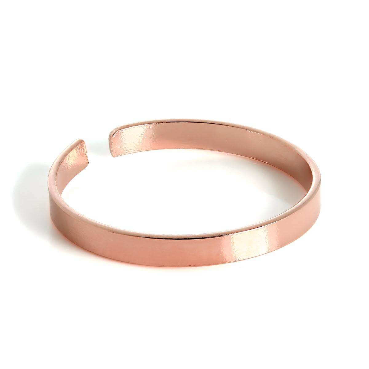Rose Gold Plated Sterling Silver Plain 2mm Band Toe Ring