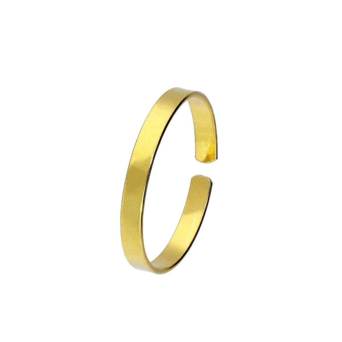 Plain Gold Plated Sterling Silver Toe Ring