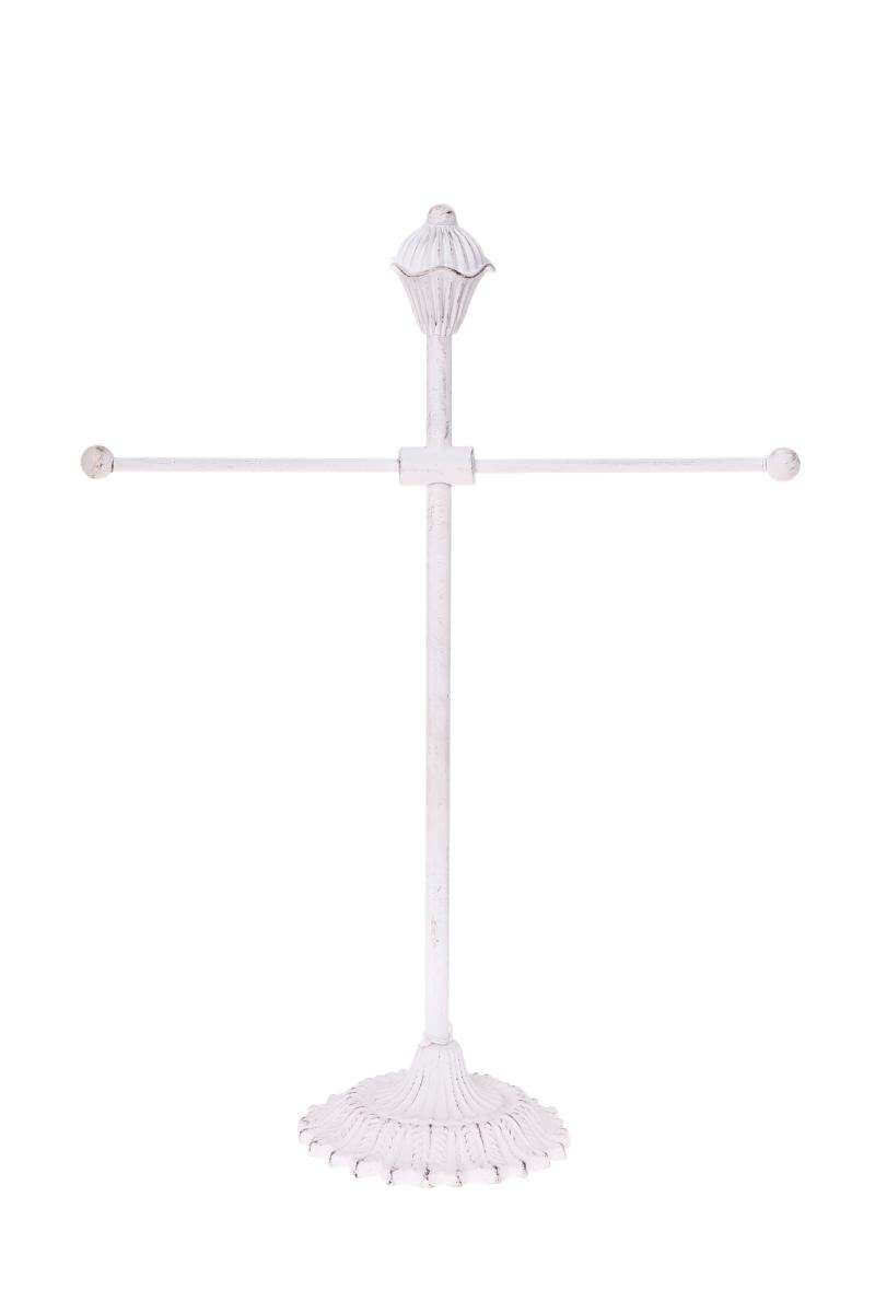 Distressed White Jewellery Stand