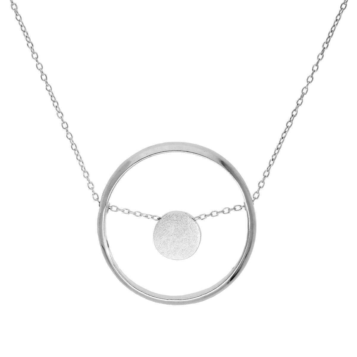 Sterling Silver Karma Moments Bead & Ring Pendant on Belcher Chain 16-22 Inches