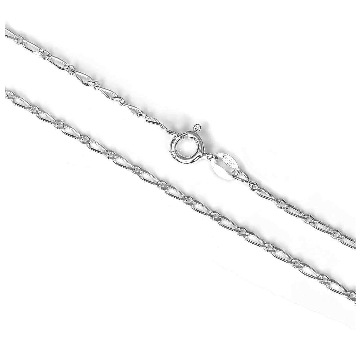 Sterling Silver Figaro Chain 16 - 24 Inches