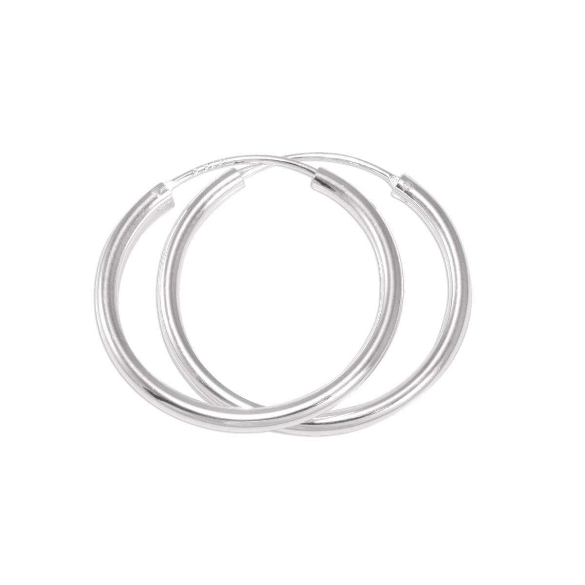 Sterling Silver 25mm Hoop Earrings