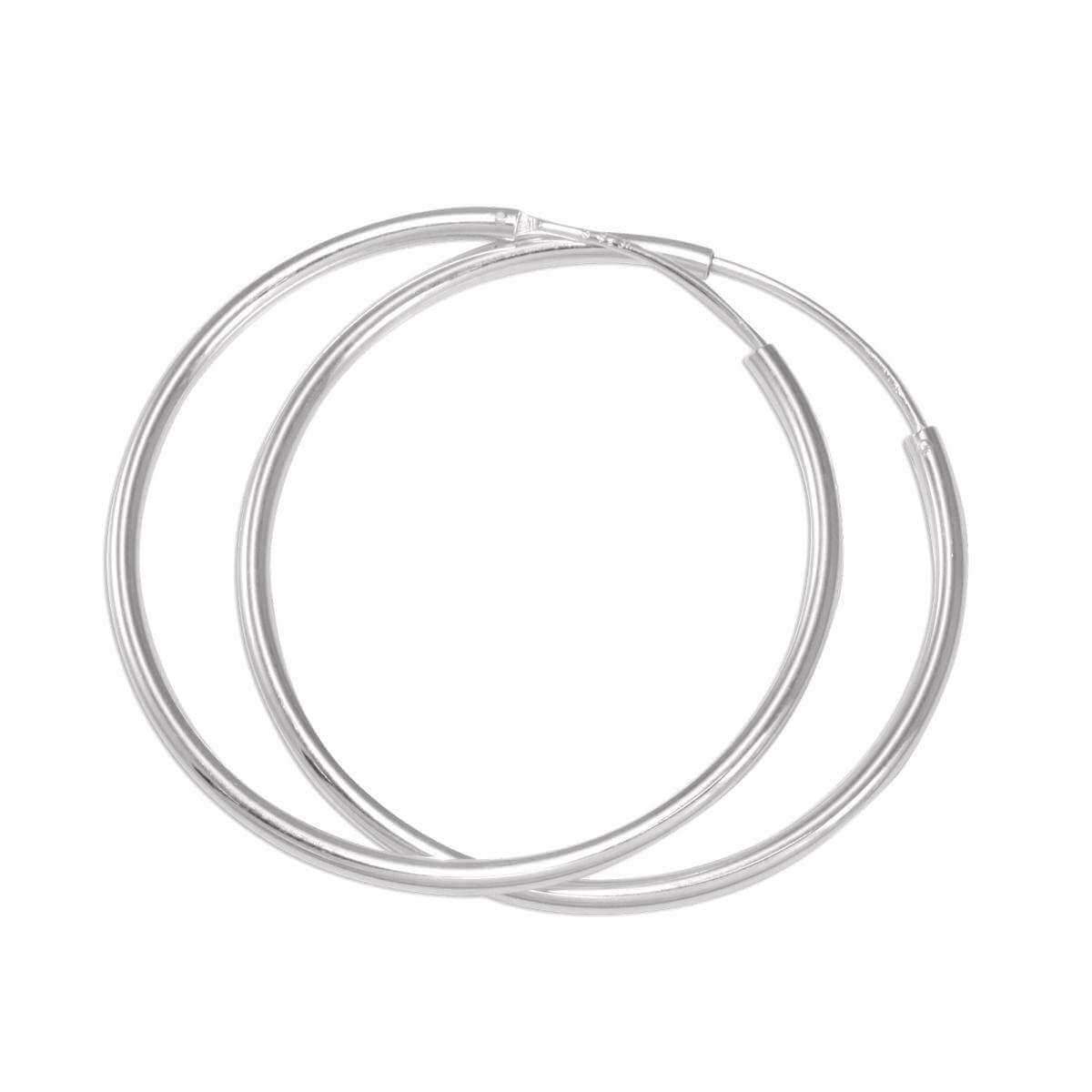 biggest discount another chance new specials Sterling Silver 40mm Hoop Earrings | JewelleryBox.co.uk