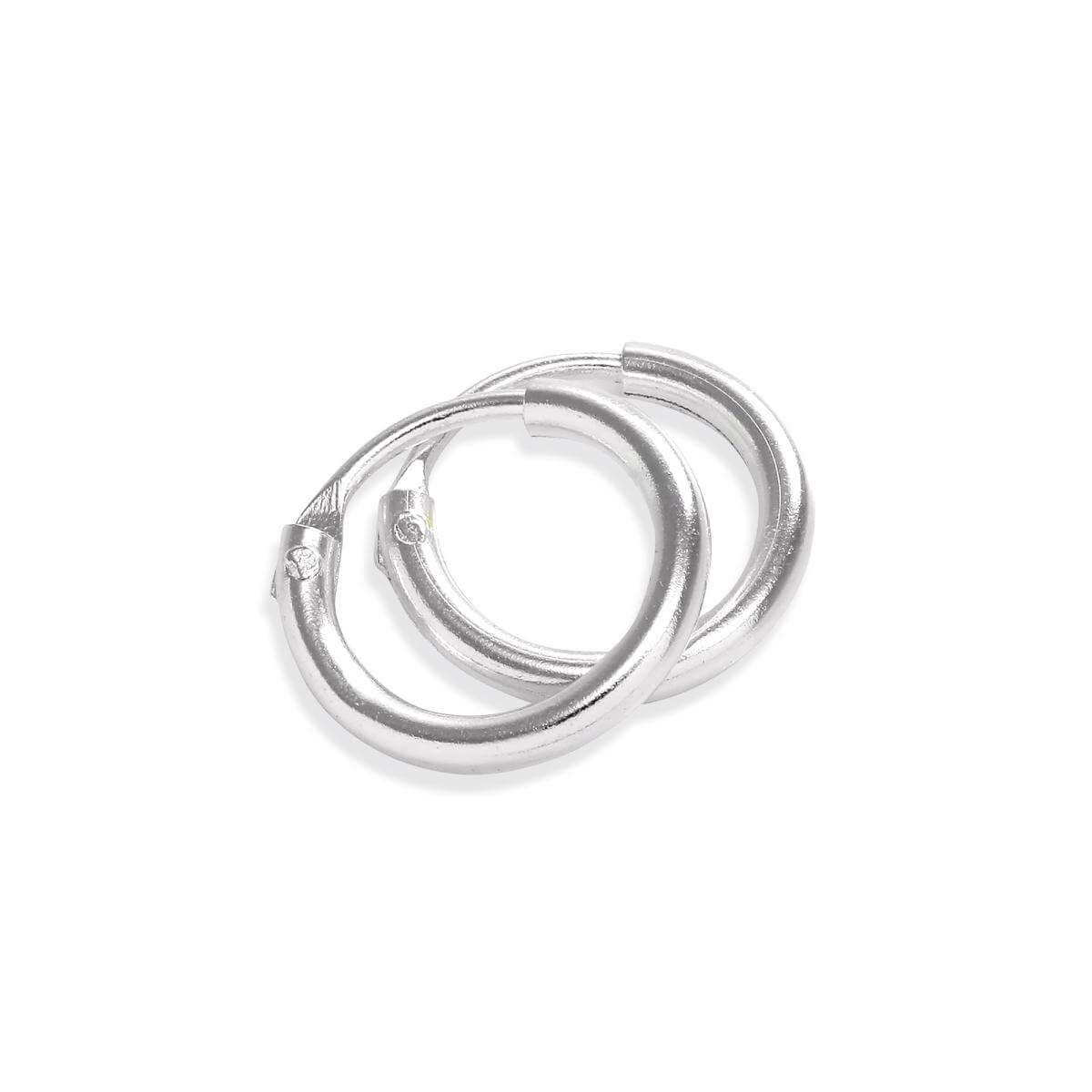 44d92477c Sterling Silver 8mm Hoop Earrings | JewelleryBox.co.uk