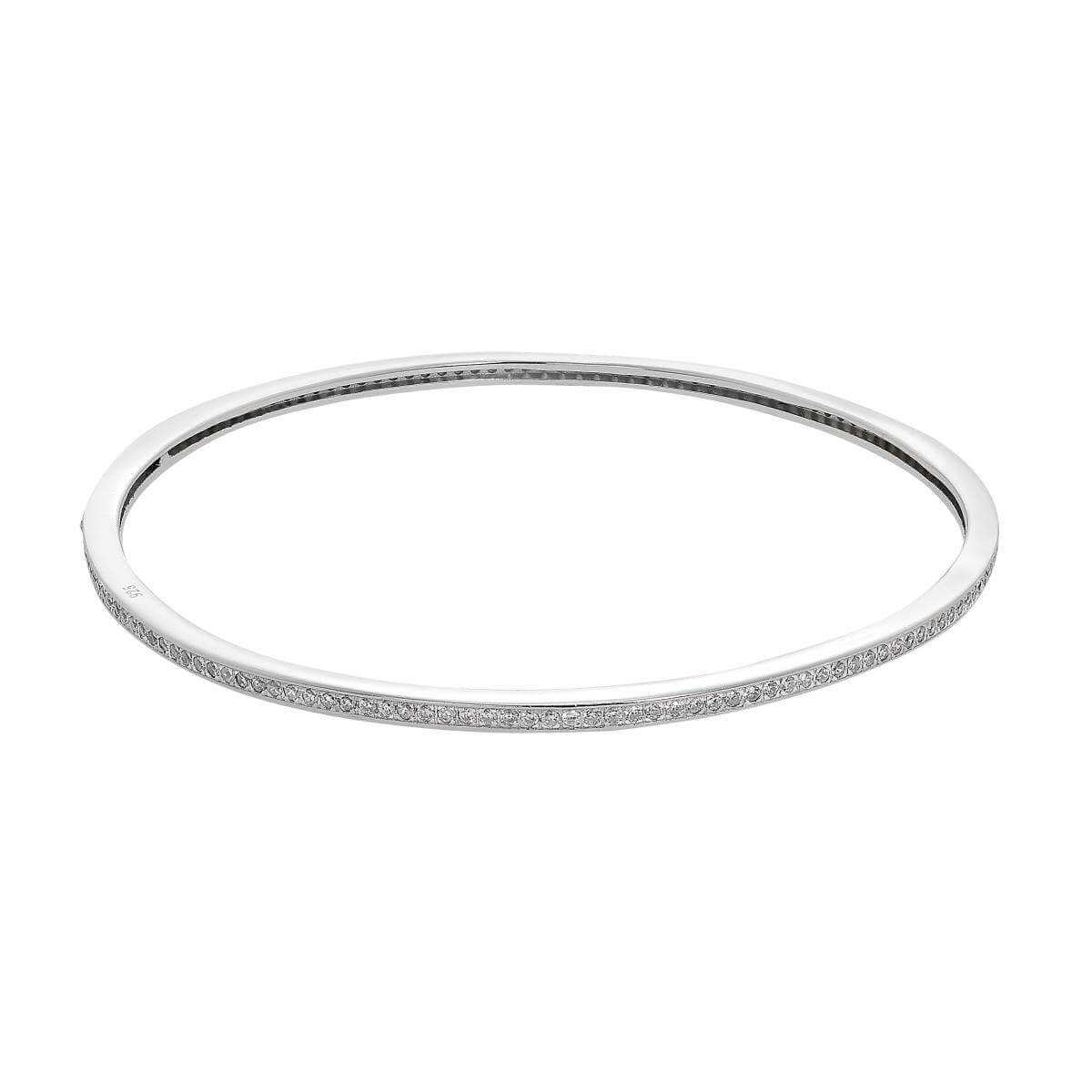 Sterling Silver & CZ Crystal Bangle