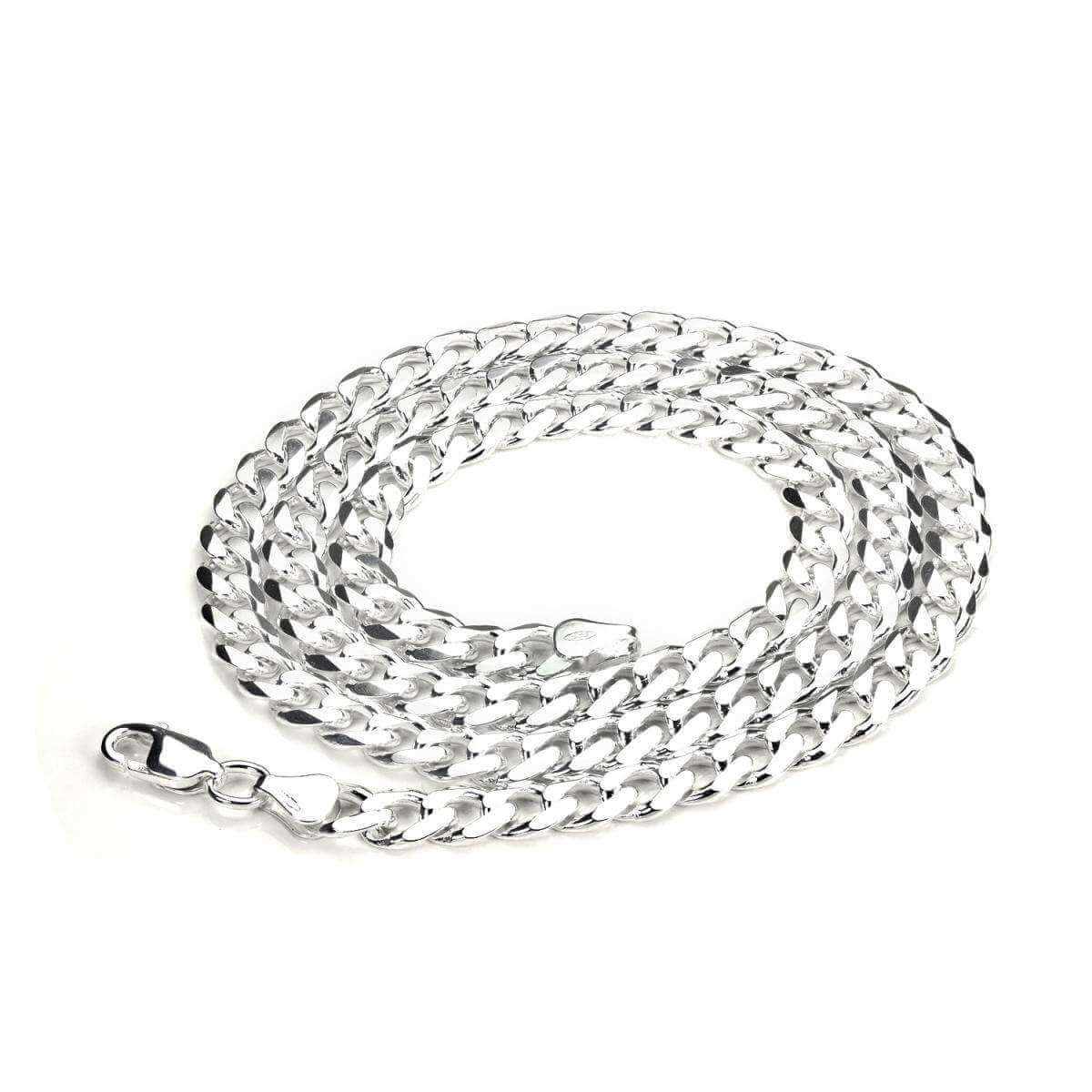 Sterling Silver Curb Chain & Bracelet