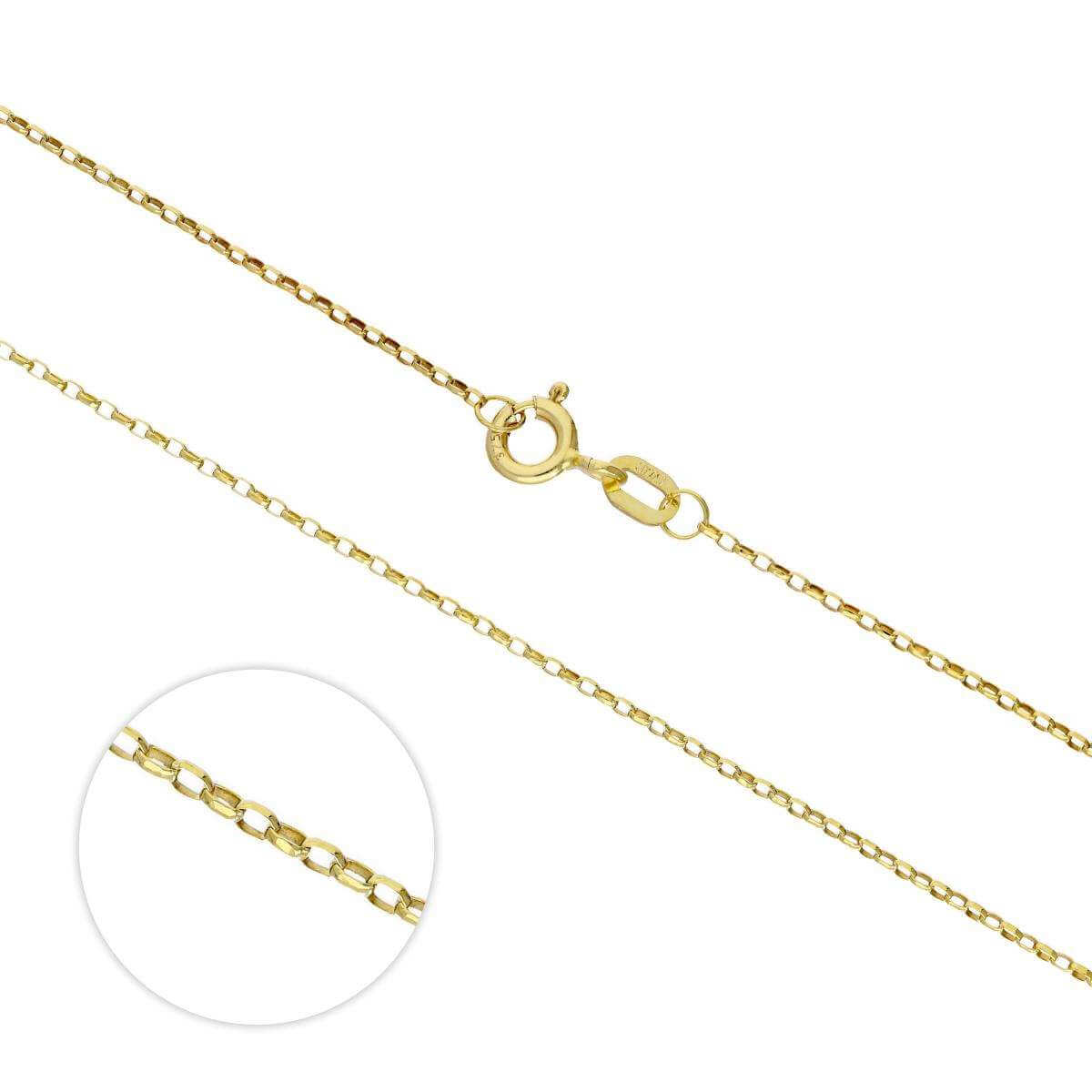 9ct Gold Lightweight Diamond Cut Belcher Chain 16 - 20 Inches